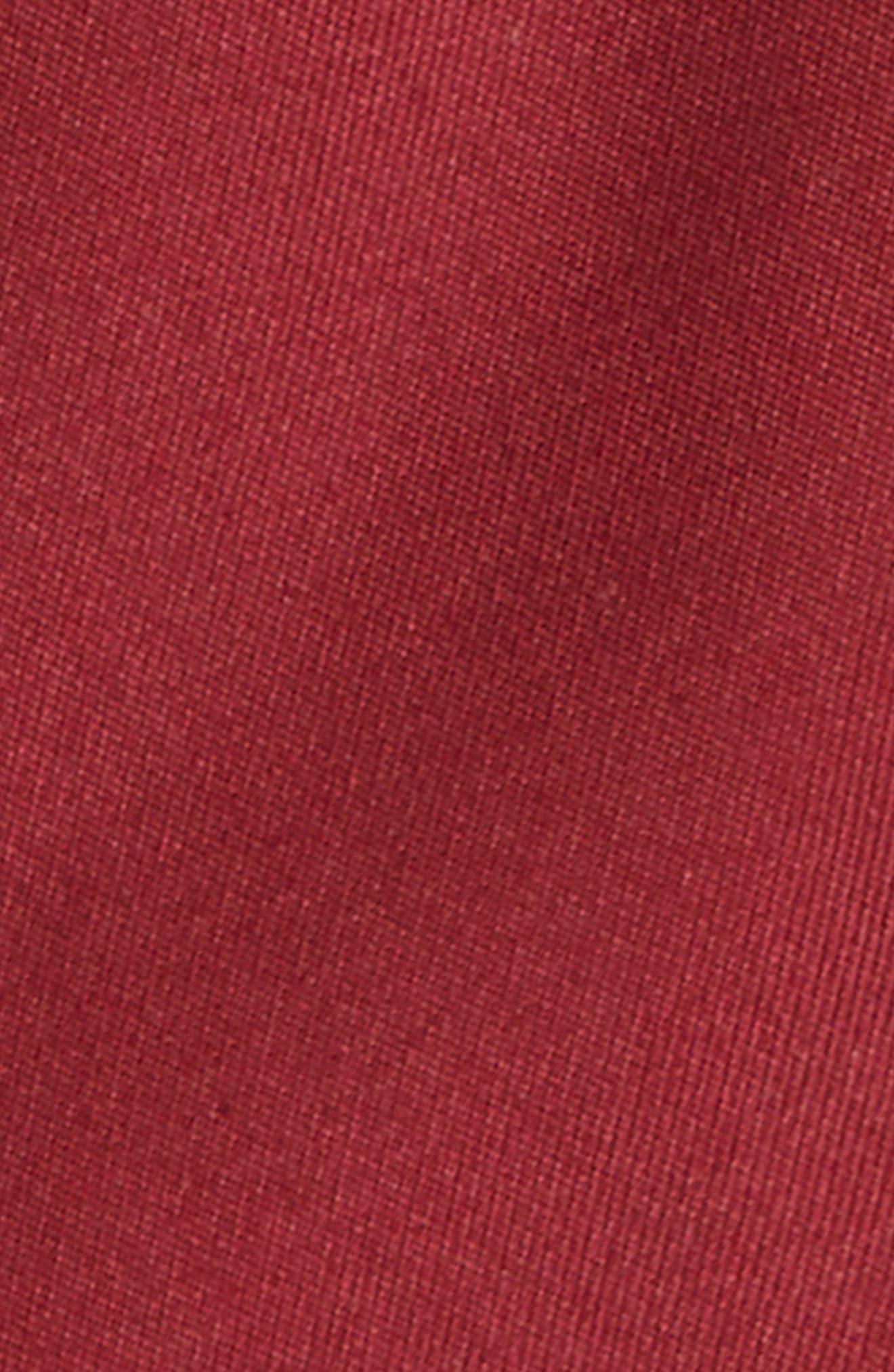 Matte Satin Silk Tie,                             Alternate thumbnail 2, color,                             Burgundy