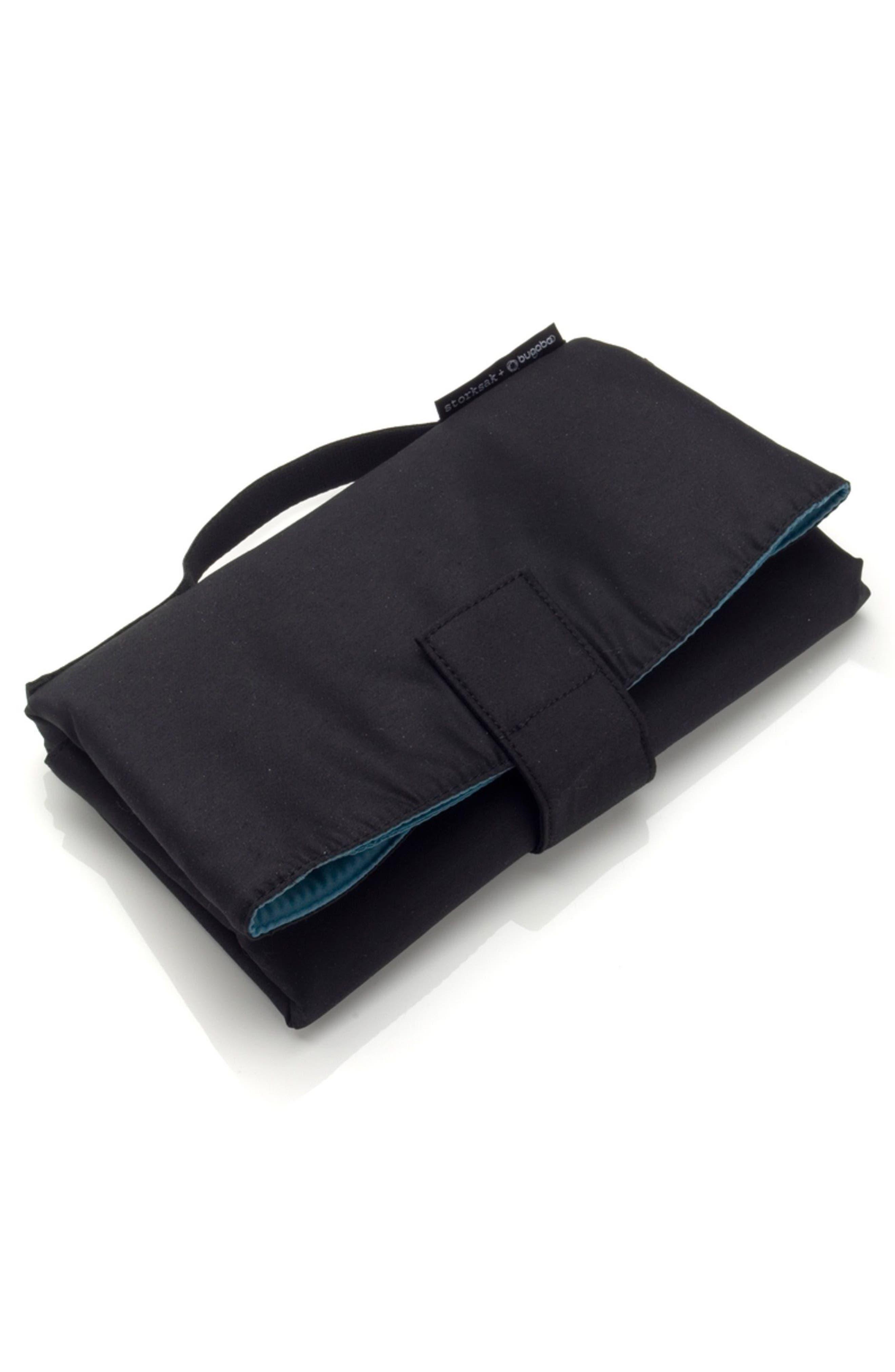 x Storksak Leather Diaper Tote Bag,                             Alternate thumbnail 3, color,                             Black