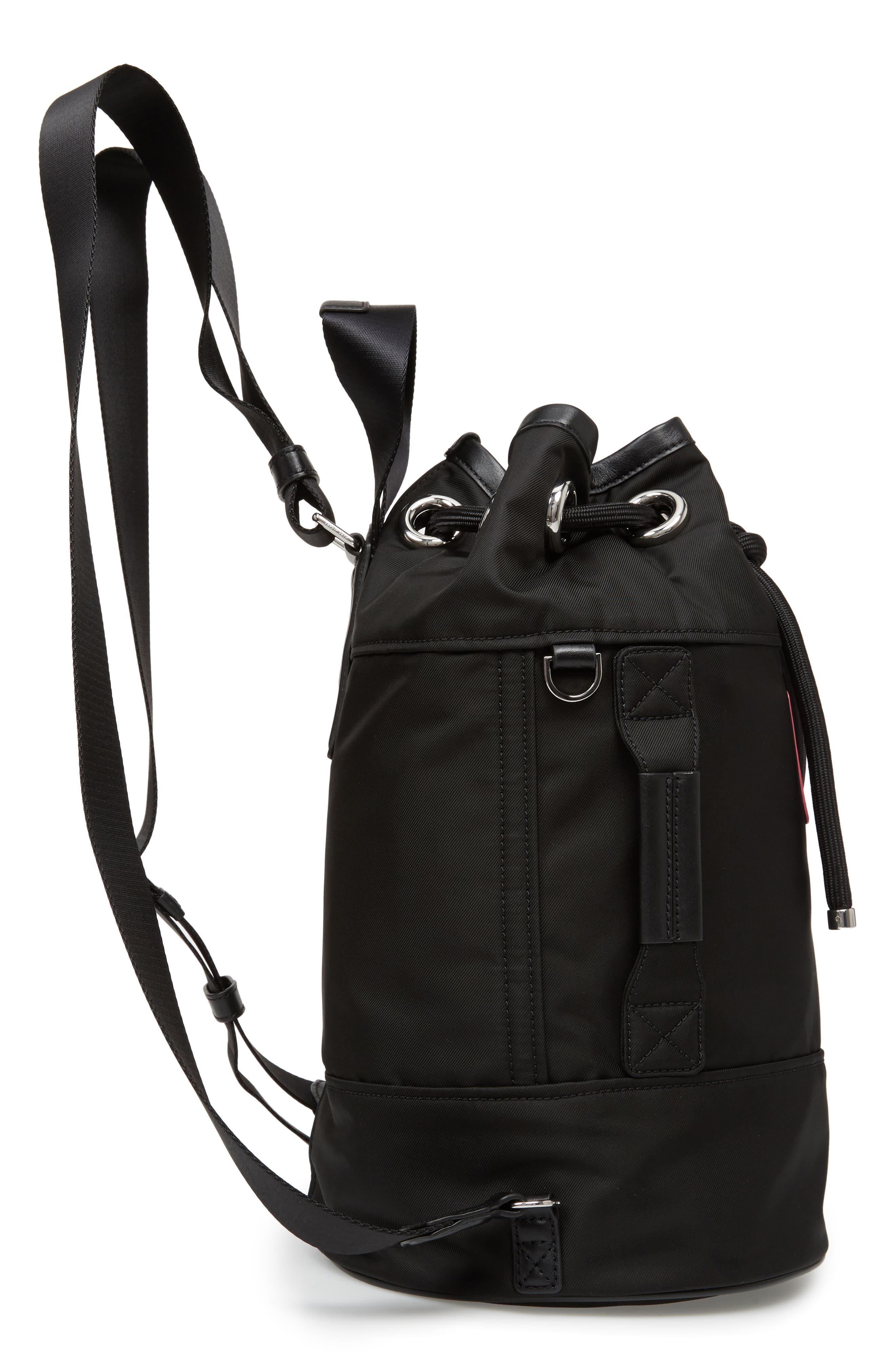 Nylon Sport Sling Bag,                             Alternate thumbnail 5, color,                             Black