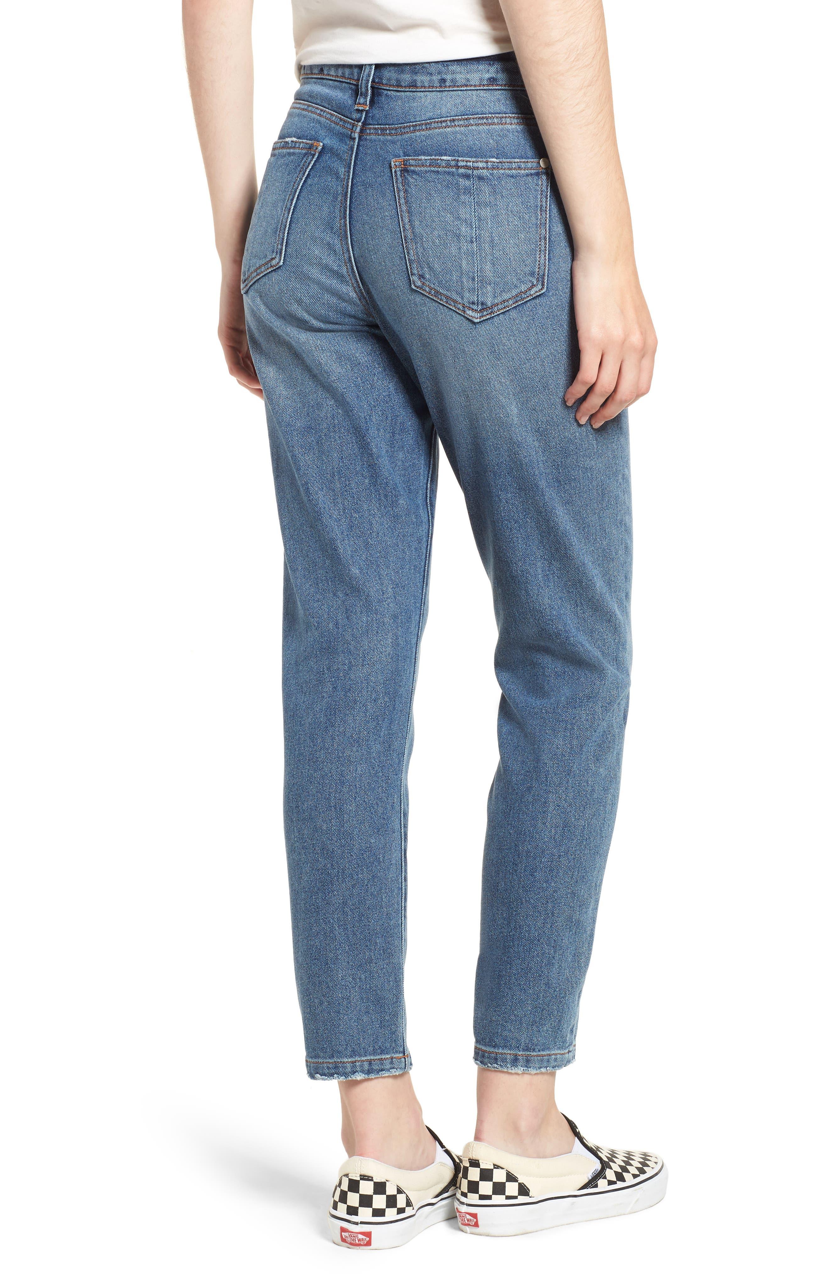 Ankle Straight Leg Jeans,                             Alternate thumbnail 2, color,                             Medium Wash