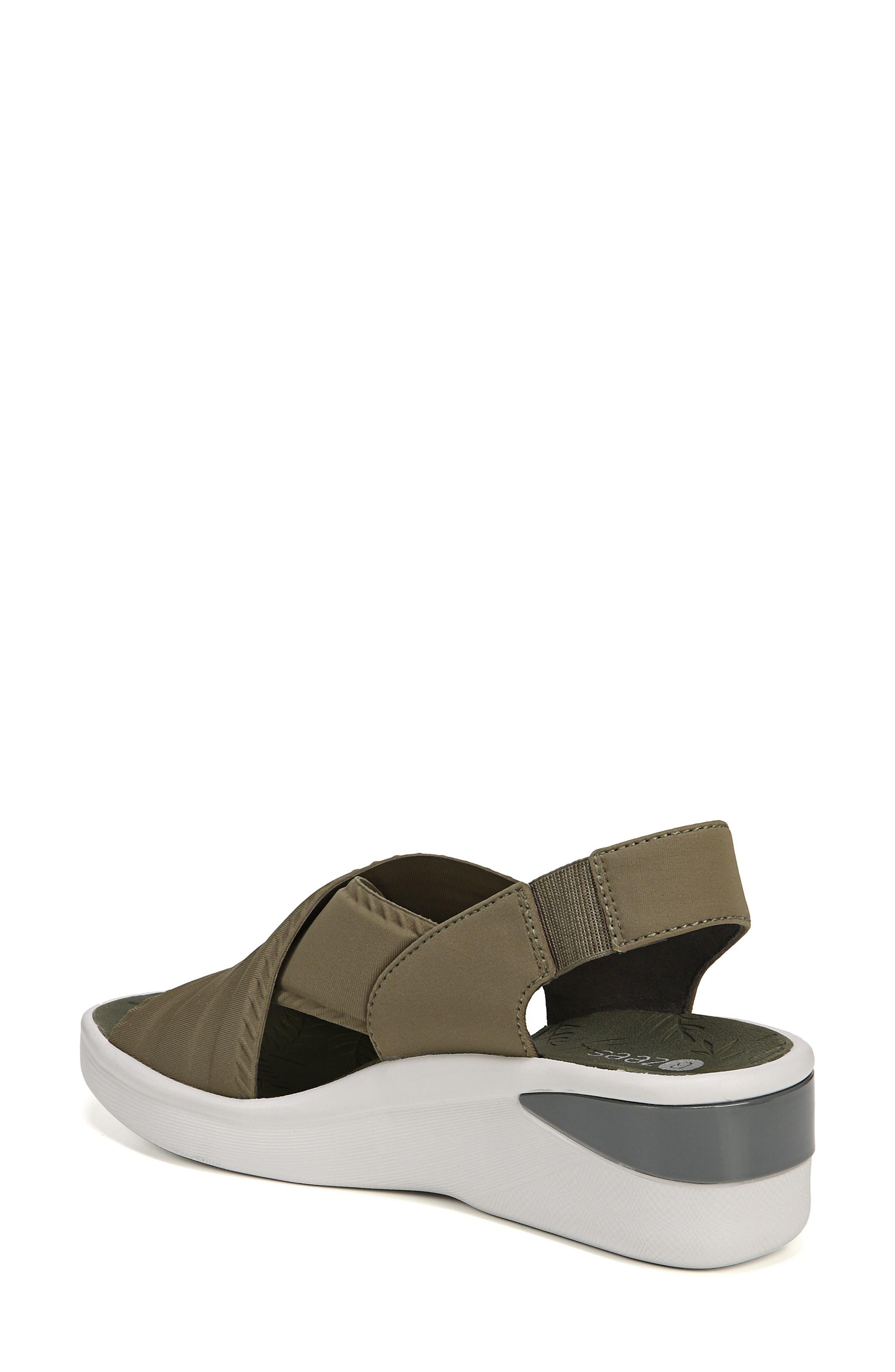 Sunset Wedge Sandal,                             Alternate thumbnail 2, color,                             Olive Fabric