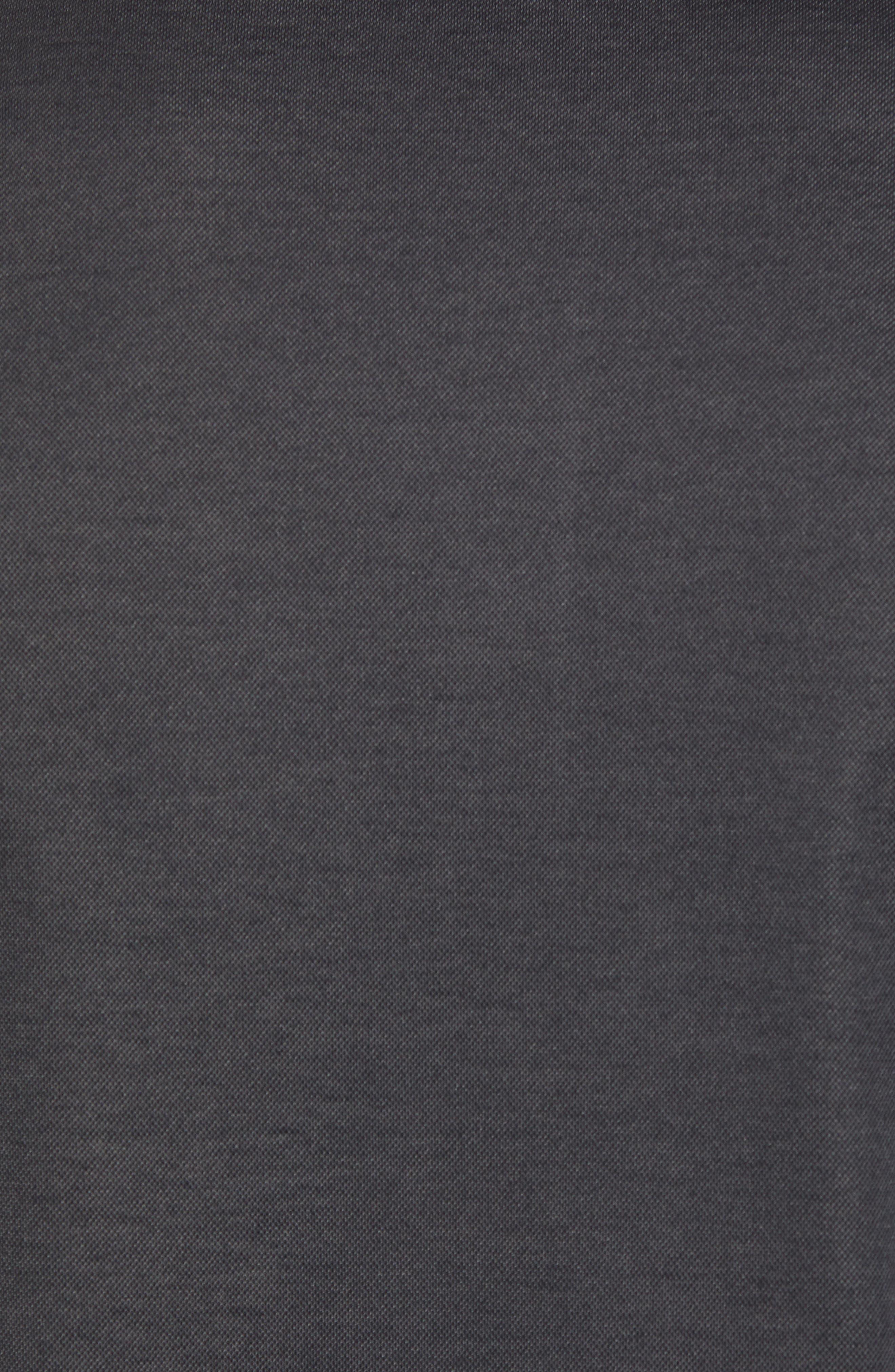 Caldwell Piqué Trim Fit Polo,                             Alternate thumbnail 5, color,                             Black