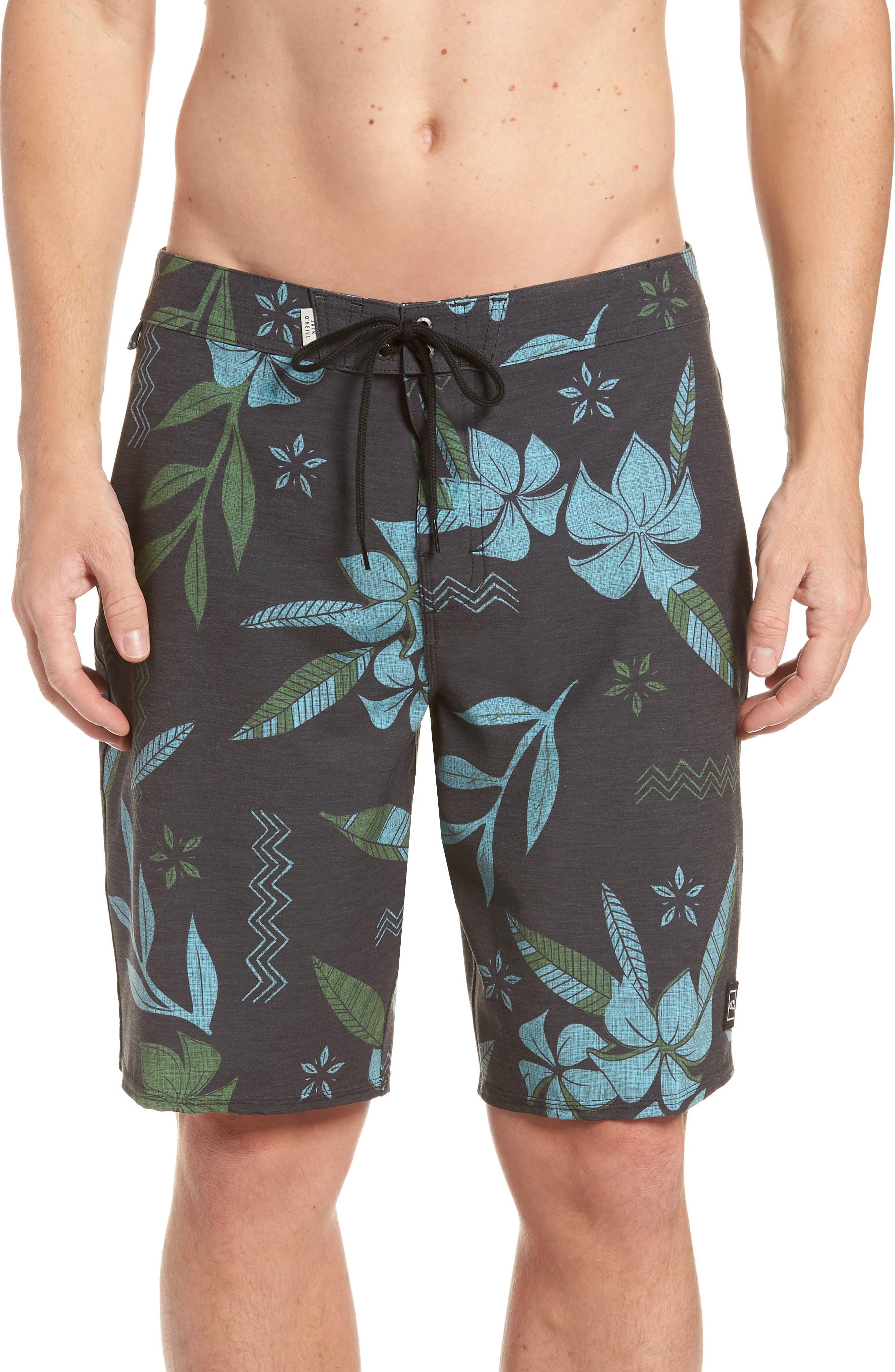 Maui Board Shorts,                         Main,                         color, Black