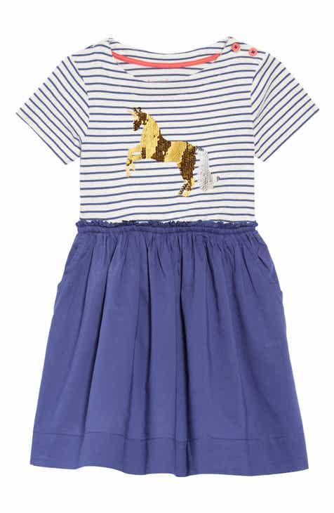 Mini Boden Color Change Sequin Unicorn Dress Toddler Girls Little Big