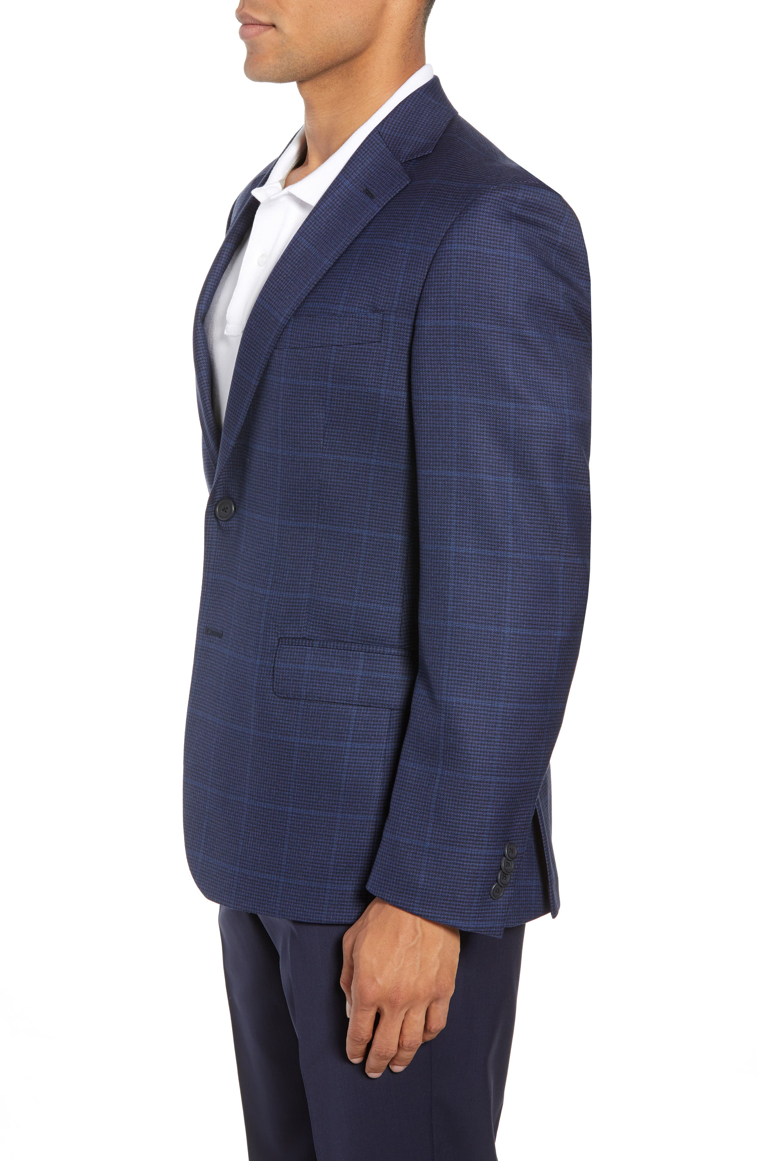 Traditional Fit Windowpane Wool Sport Coat,                             Alternate thumbnail 5, color,                             Blue