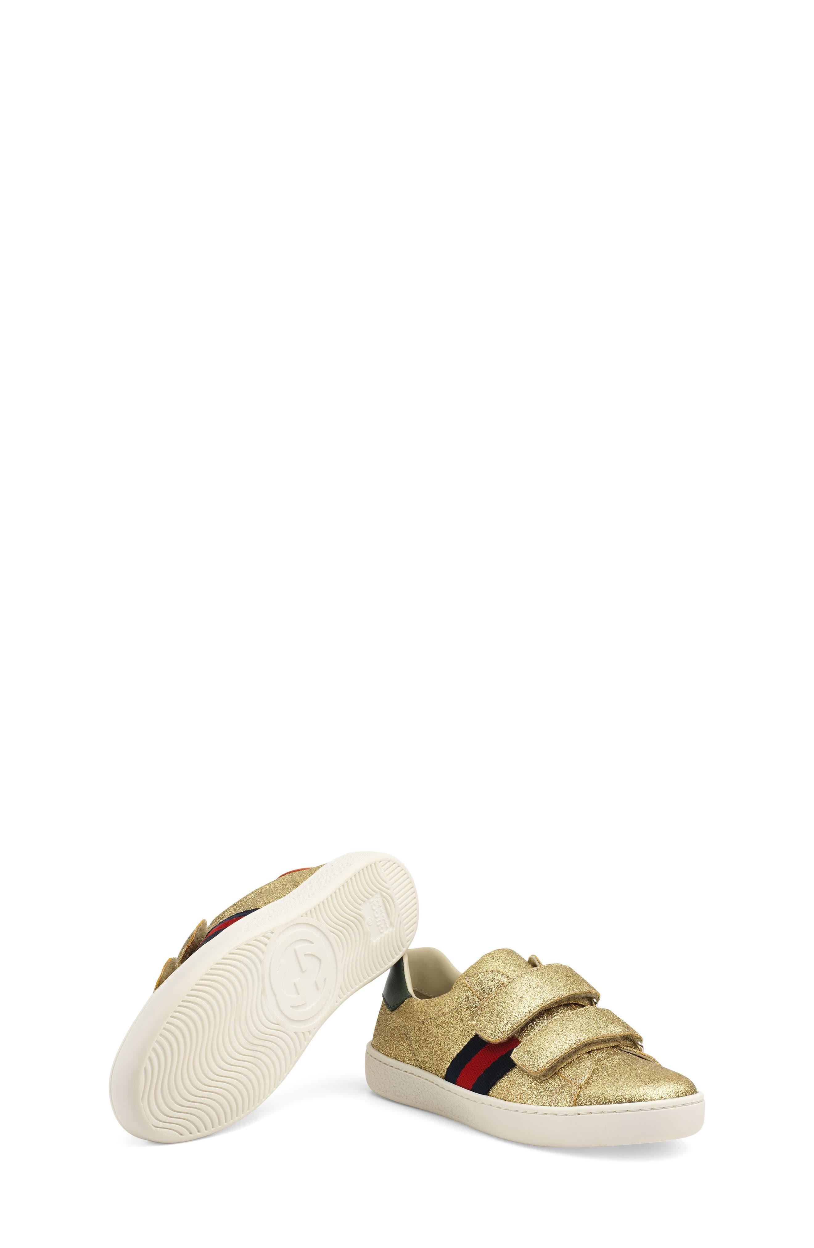 New Ace Sneaker,                             Alternate thumbnail 5, color,                             Metallic Gold