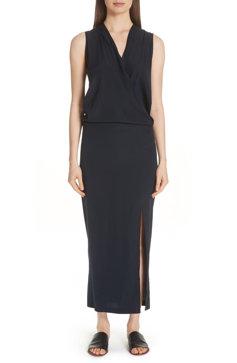 Blouson Stretch Silk Dress