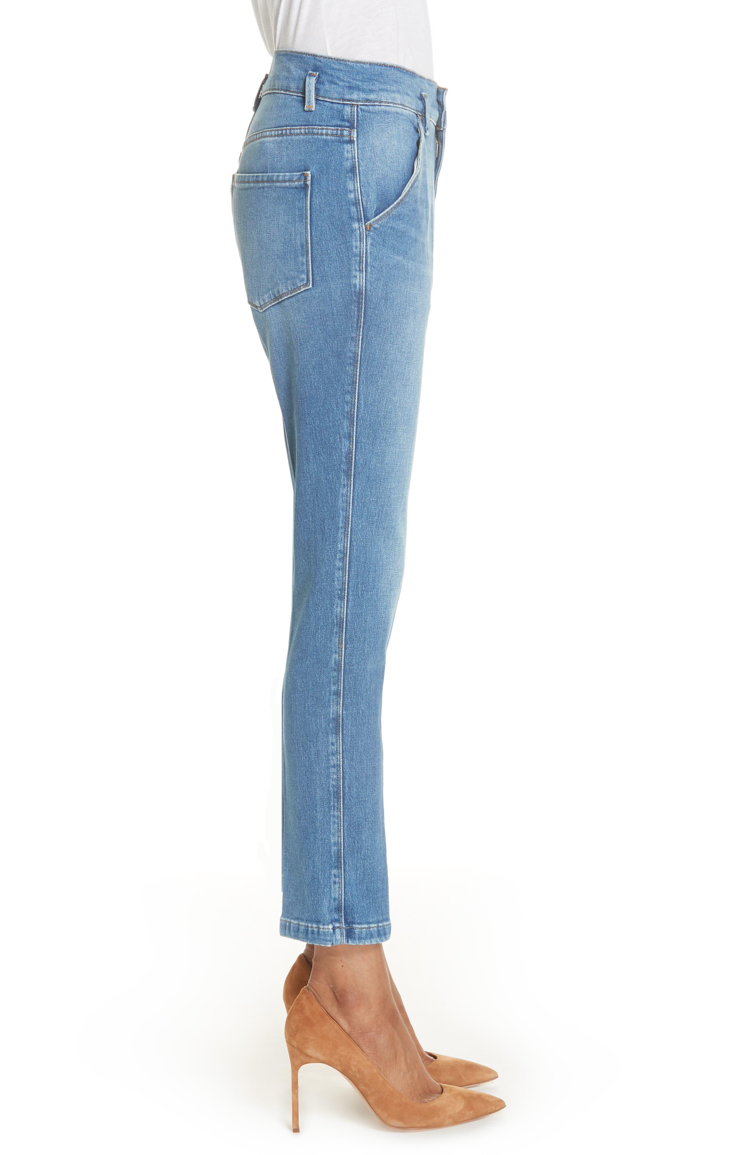 Le Slender Straight Leg Jeans,                             Alternate thumbnail 3, color,                             Thistle