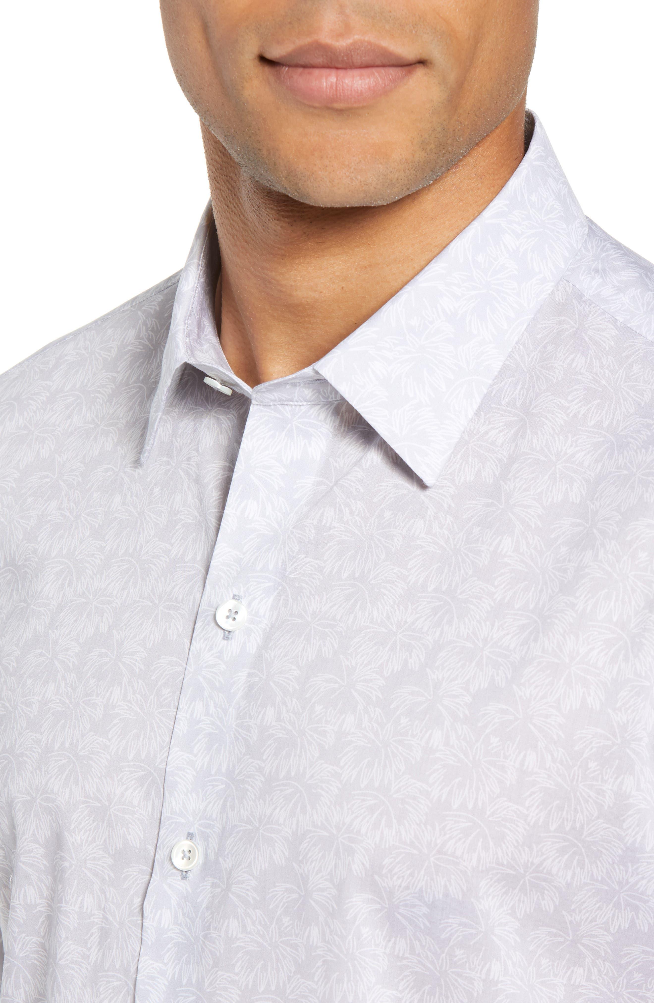 Slenske Trim Fit Sport Shirt,                             Alternate thumbnail 2, color,                             Light Grey