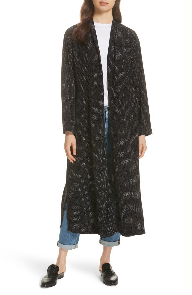 Belted Long Kimono Jacket