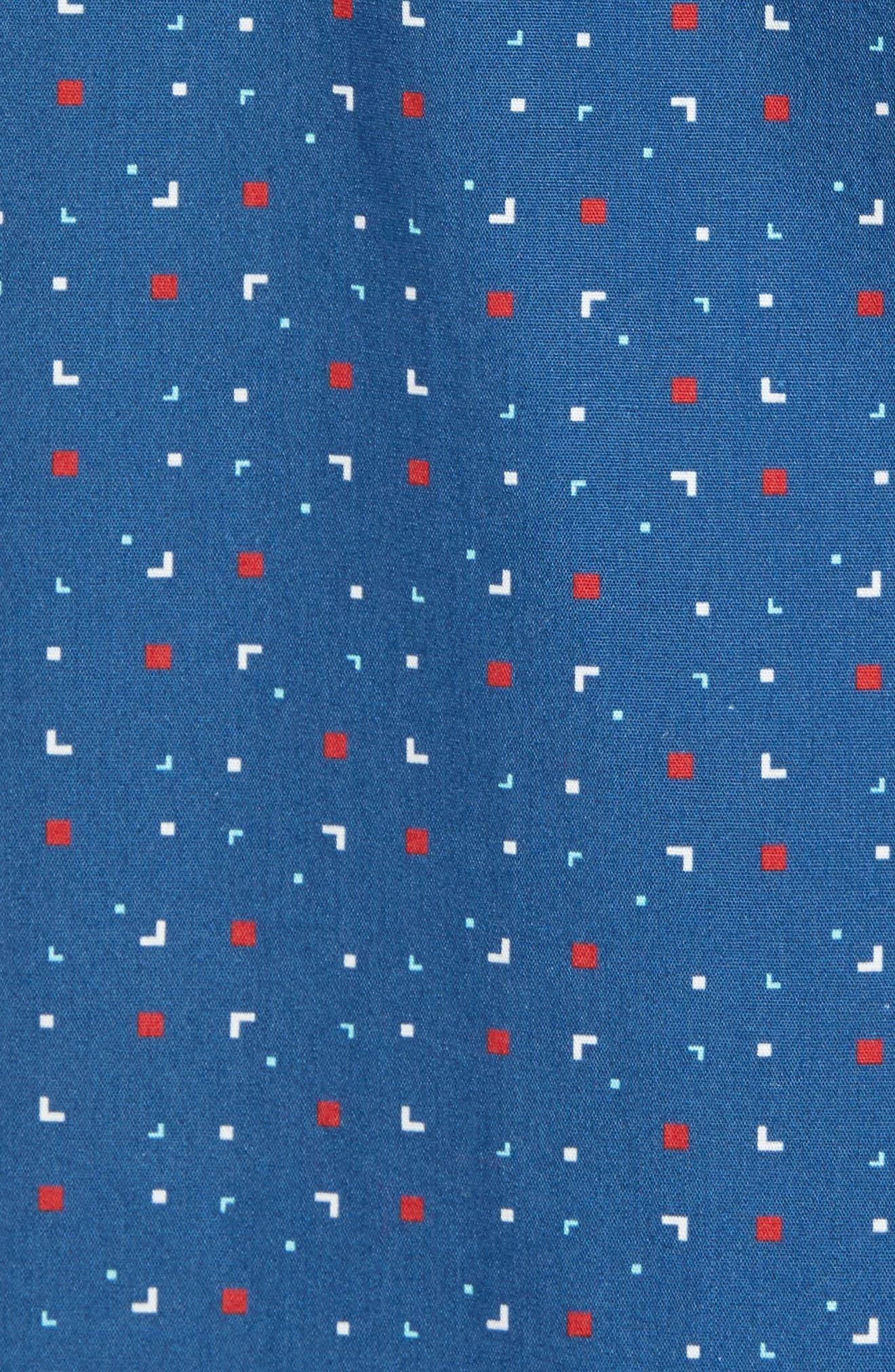 Scattered Geo Woven Shirt,                             Alternate thumbnail 5, color,                             Blue