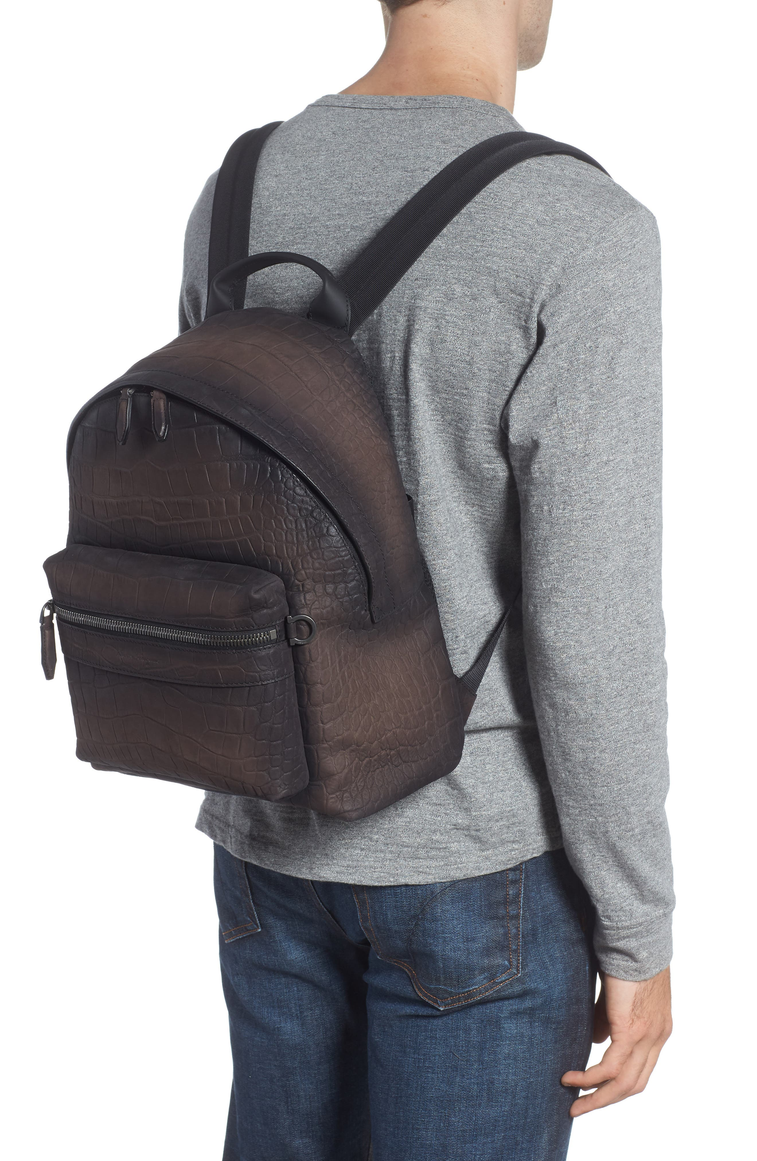 Firenze Leather Backpack,                             Alternate thumbnail 2, color,                             Moro
