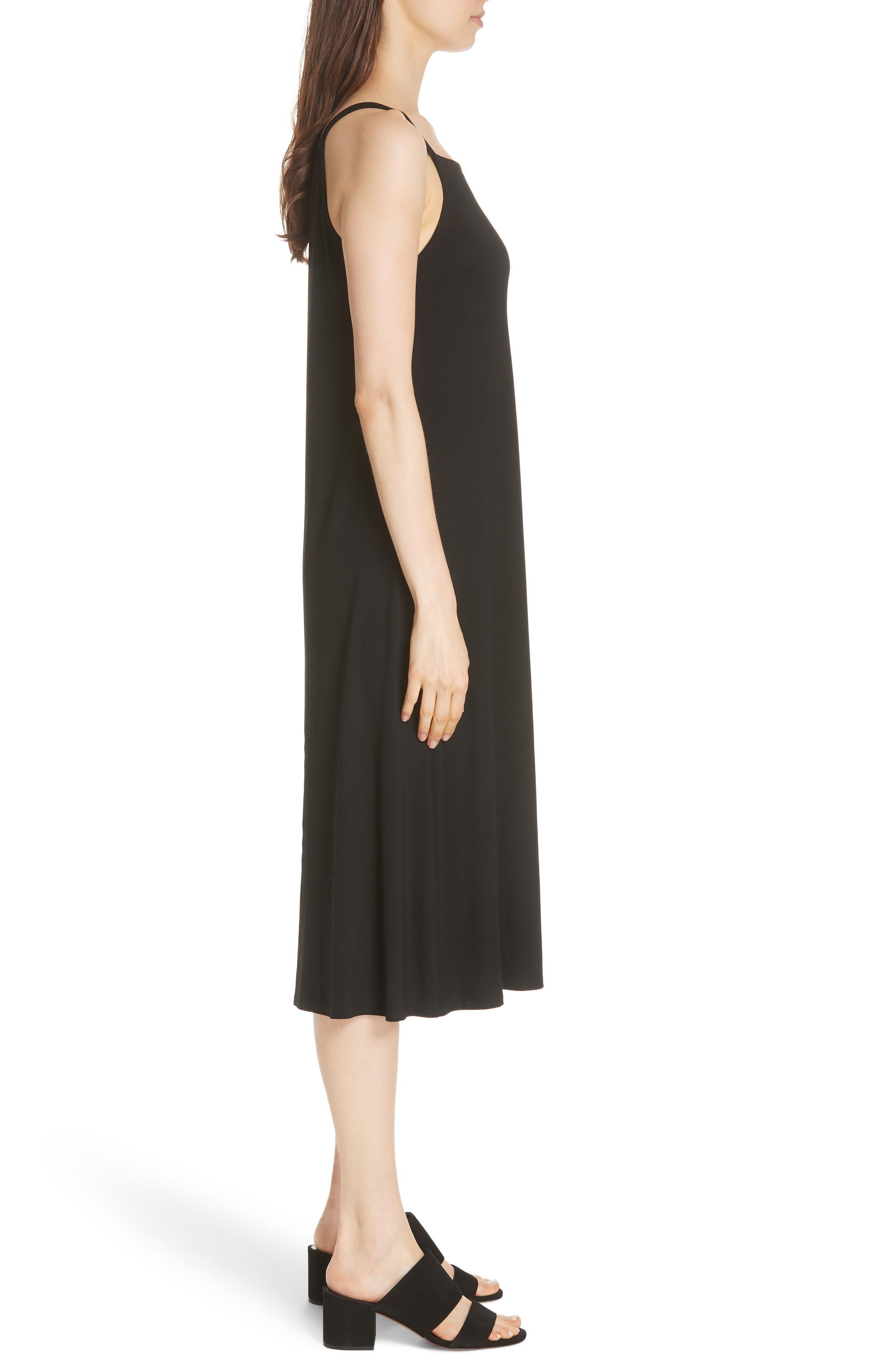 Cami Dress,                             Alternate thumbnail 5, color,                             Black