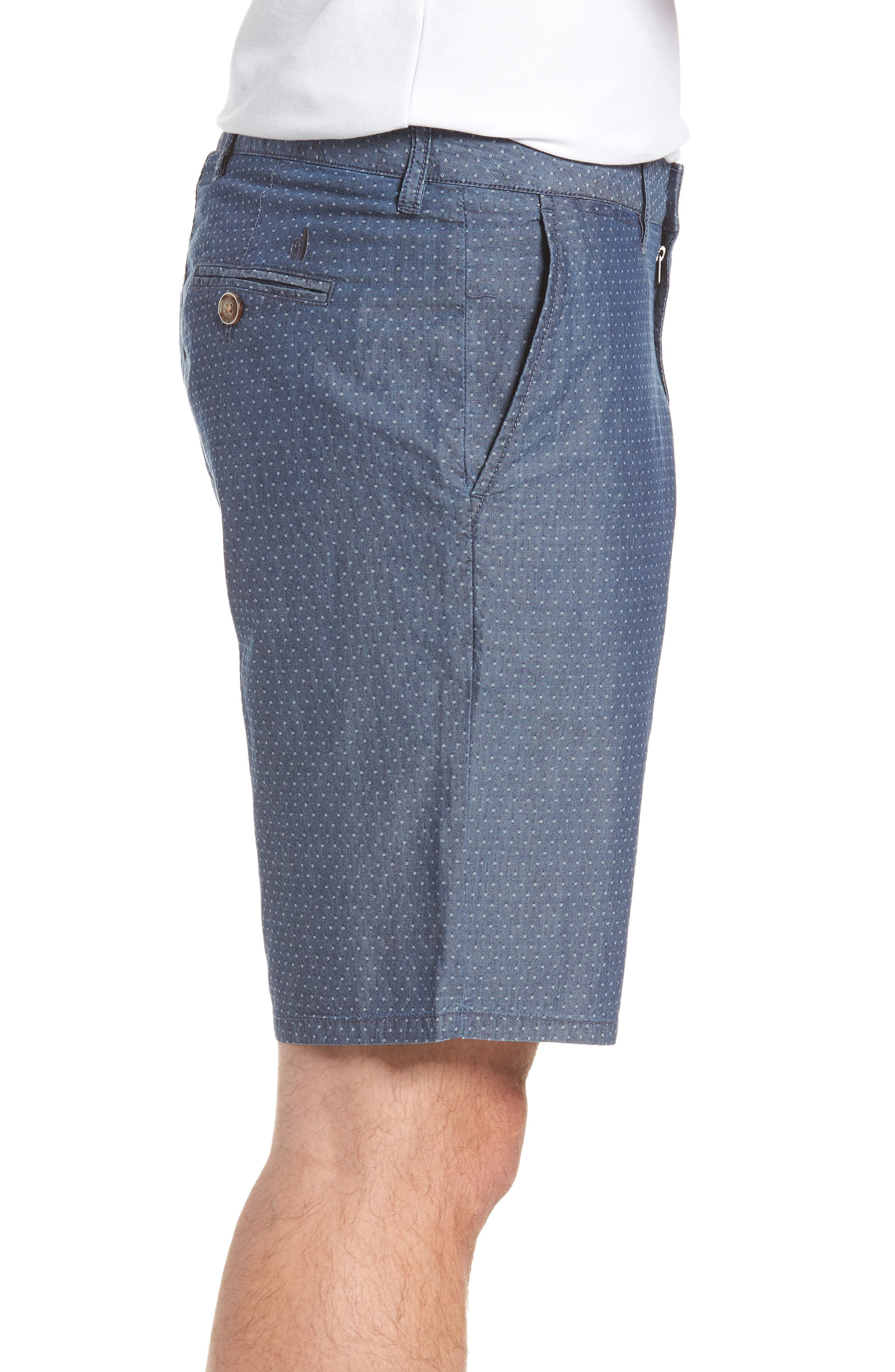 Oliver Classic Fit Chambray Jacquard Shorts,                             Alternate thumbnail 5, color,                             Chambray
