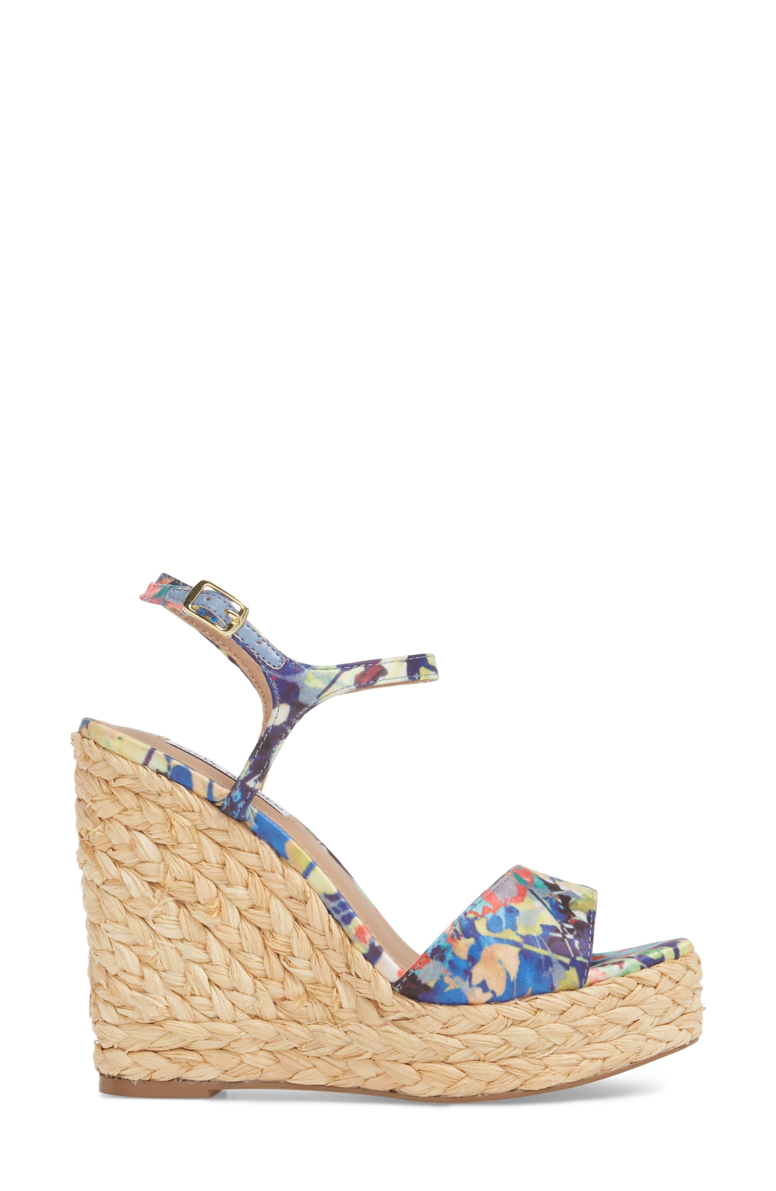 Tokin Espadrille Wedge Sandal,                             Alternate thumbnail 3, color,                             Floral Multi