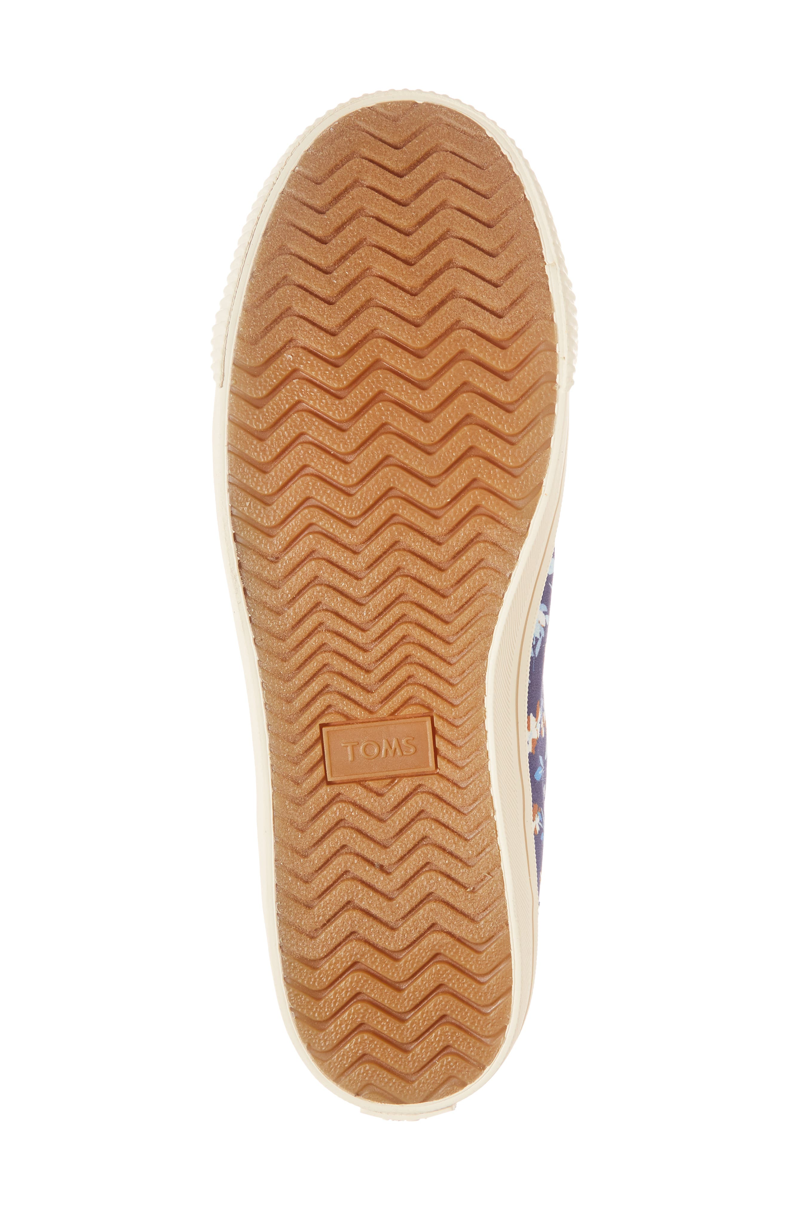 Camarillo High Top Sneaker,                             Alternate thumbnail 6, color,                             Deep Blue Vintage Flower