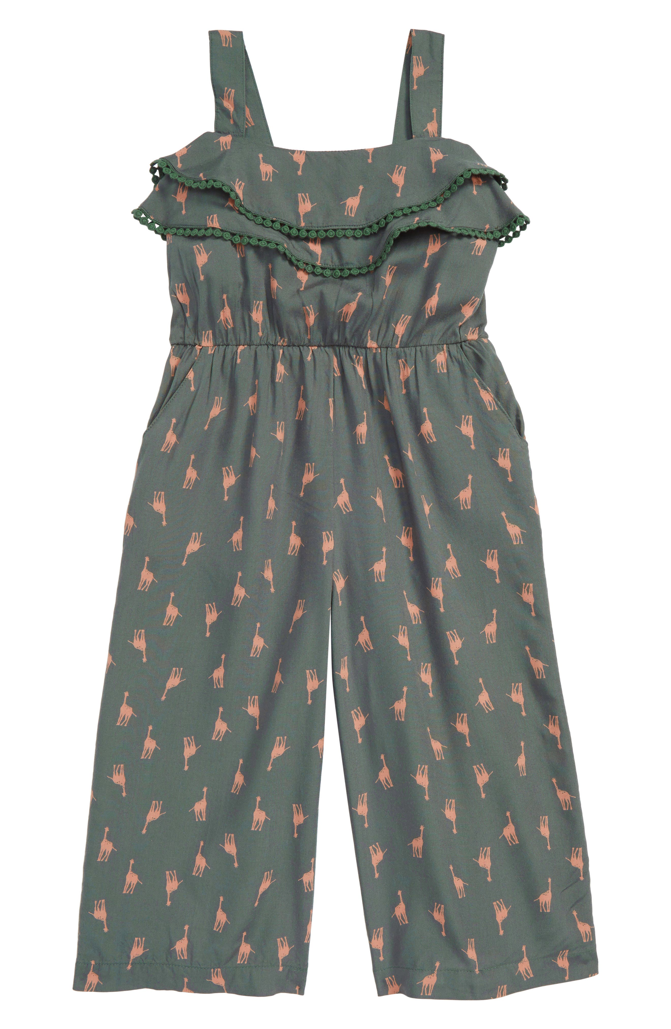 Skylar Giraffe Print Jumpsuit,                         Main,                         color, Sage