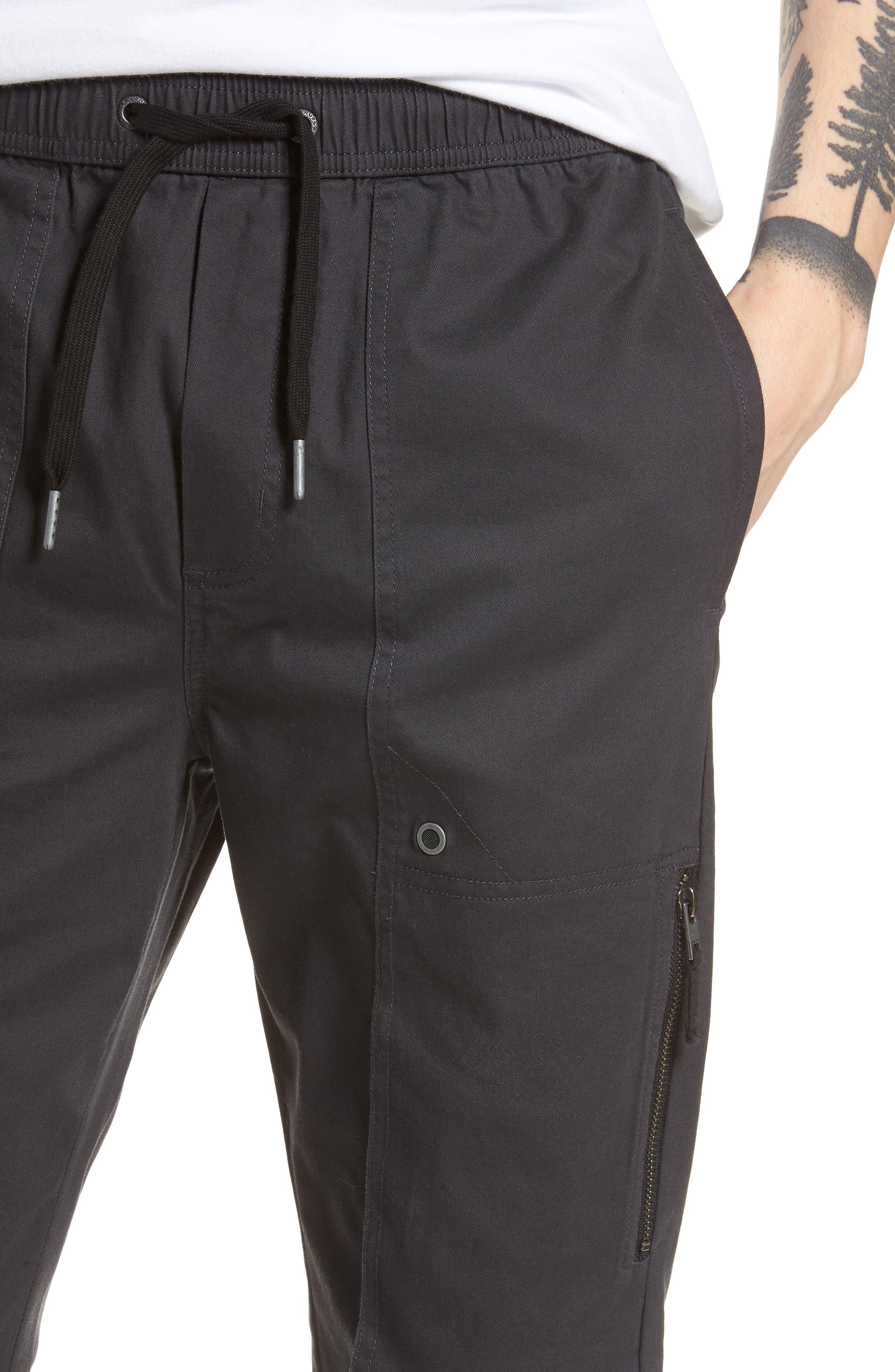 Blockshot Jogger Pants,                             Alternate thumbnail 4, color,                             Vintage Black/ Black