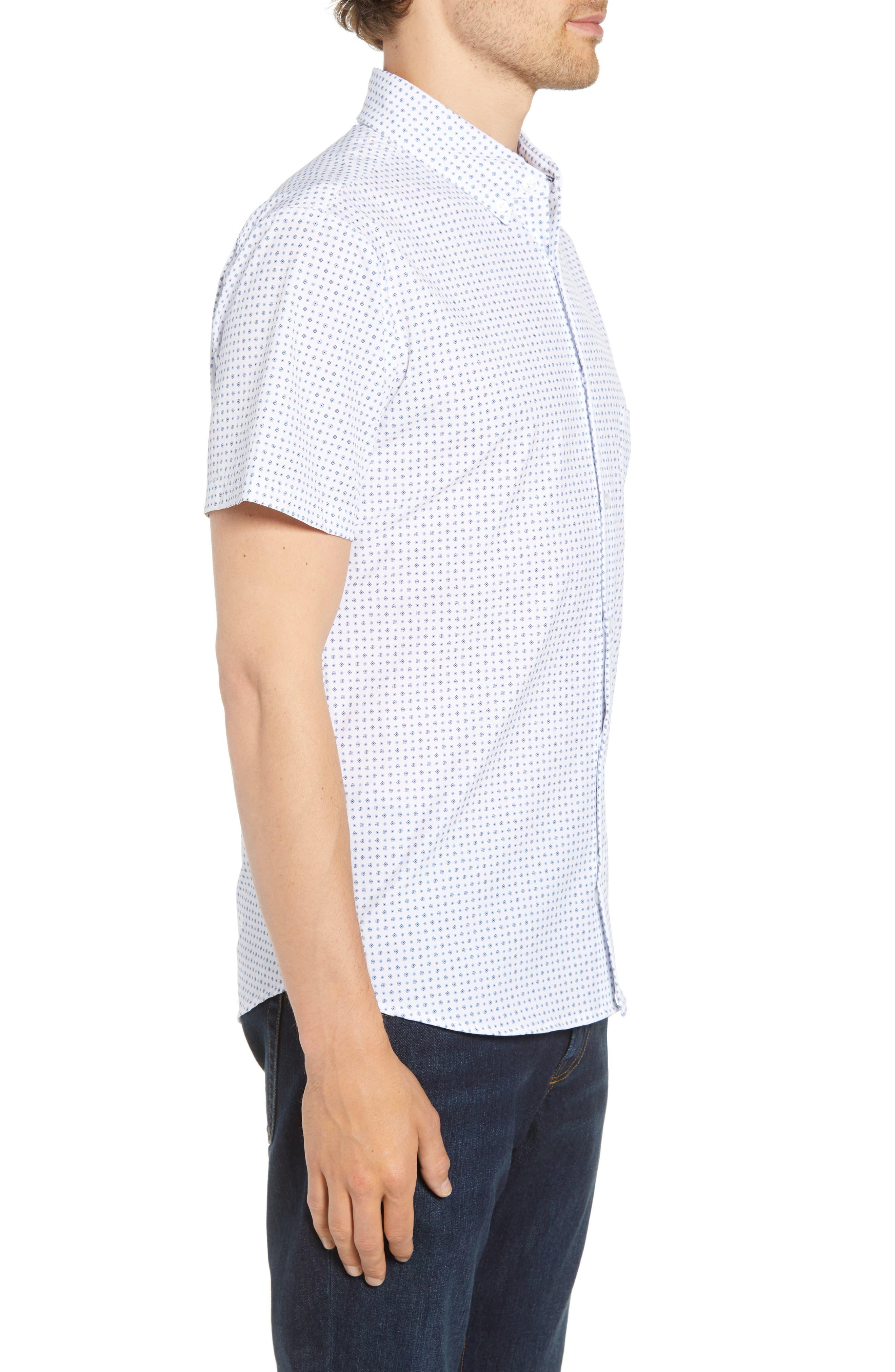 Darst Slim Fit Performance Sport Shirt,                             Alternate thumbnail 4, color,                             White