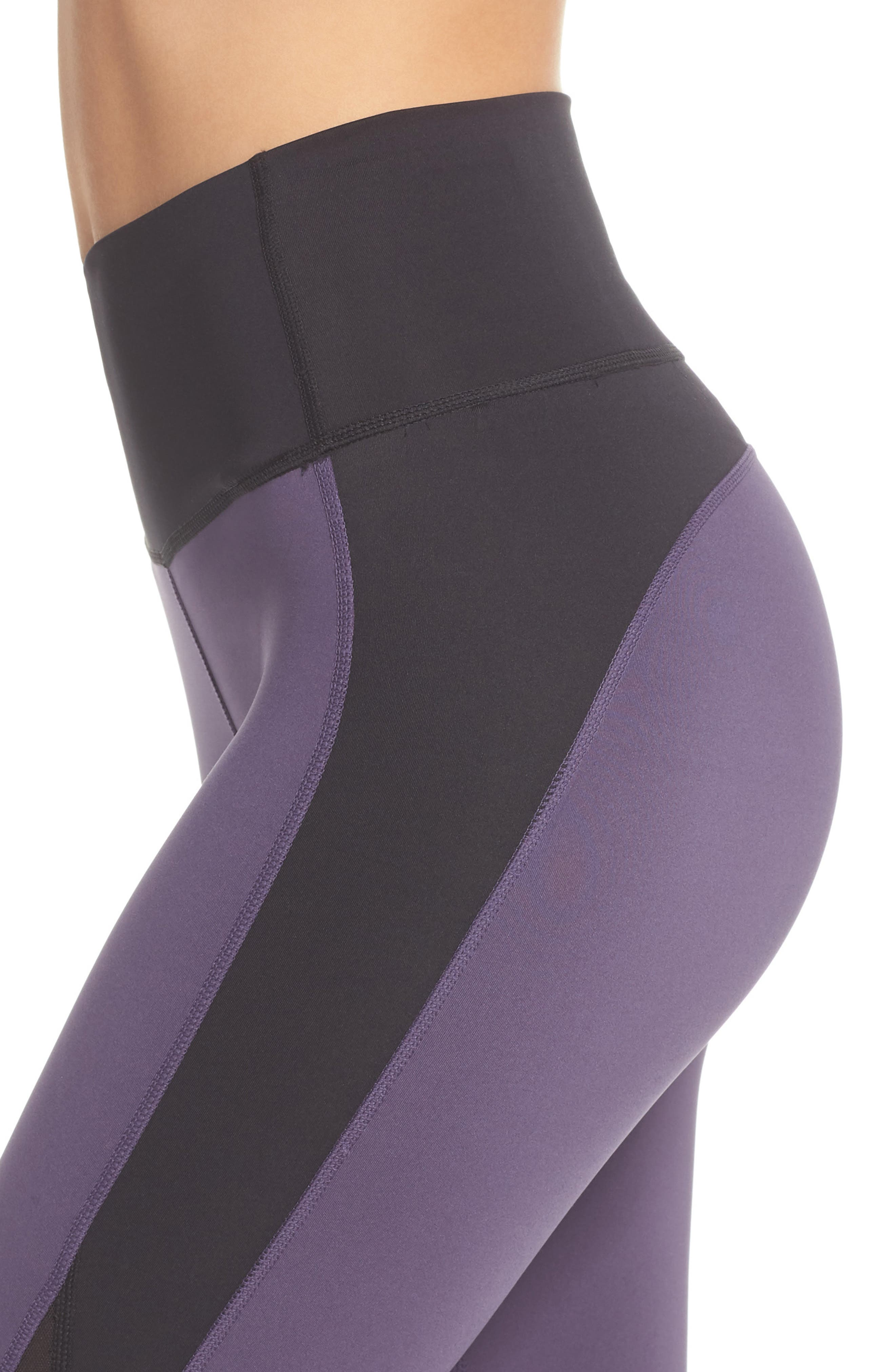 Believe This High Waist Tights,                             Alternate thumbnail 4, color,                             Trace Purple