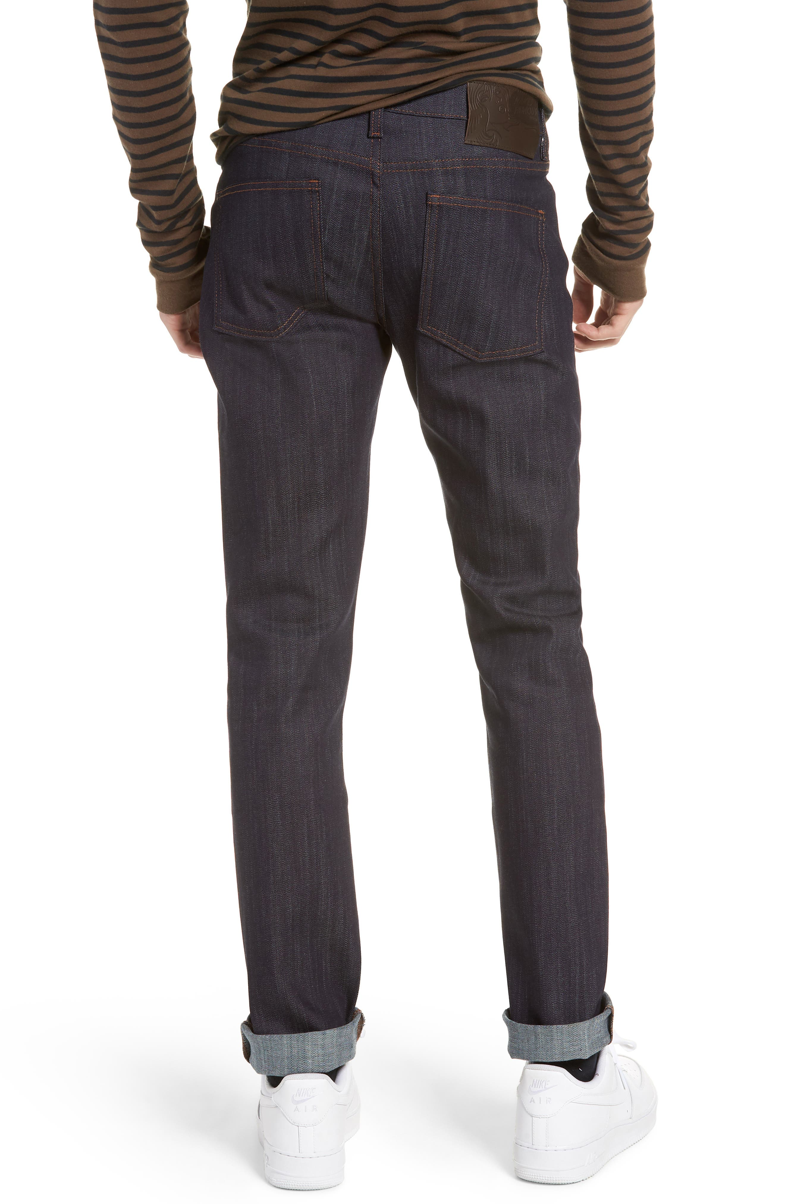 Naked & Famous Super Skinny Guy Skinny Fit Jeans,                             Alternate thumbnail 2, color,                             Indigo Power Stretch