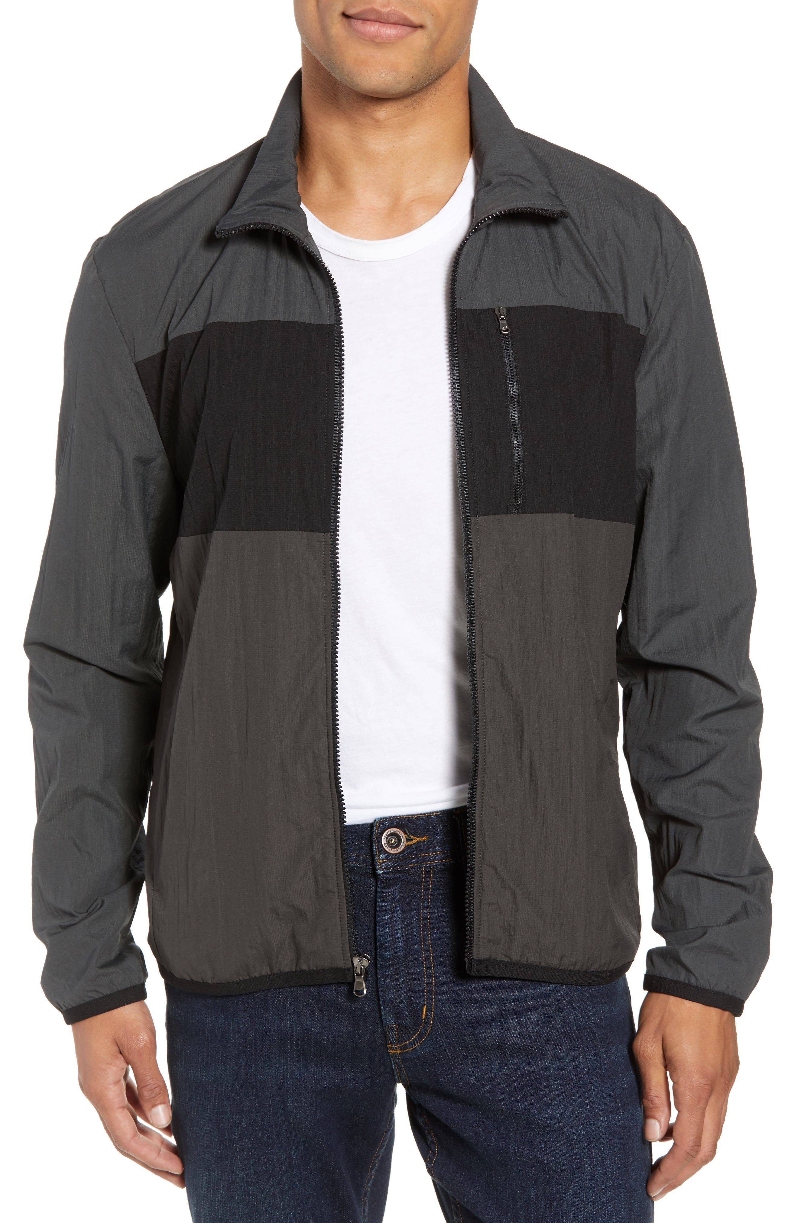 Stripe Ripstop Jacket,                             Main thumbnail 1, color,                             Pipe/ Black/ Abyss