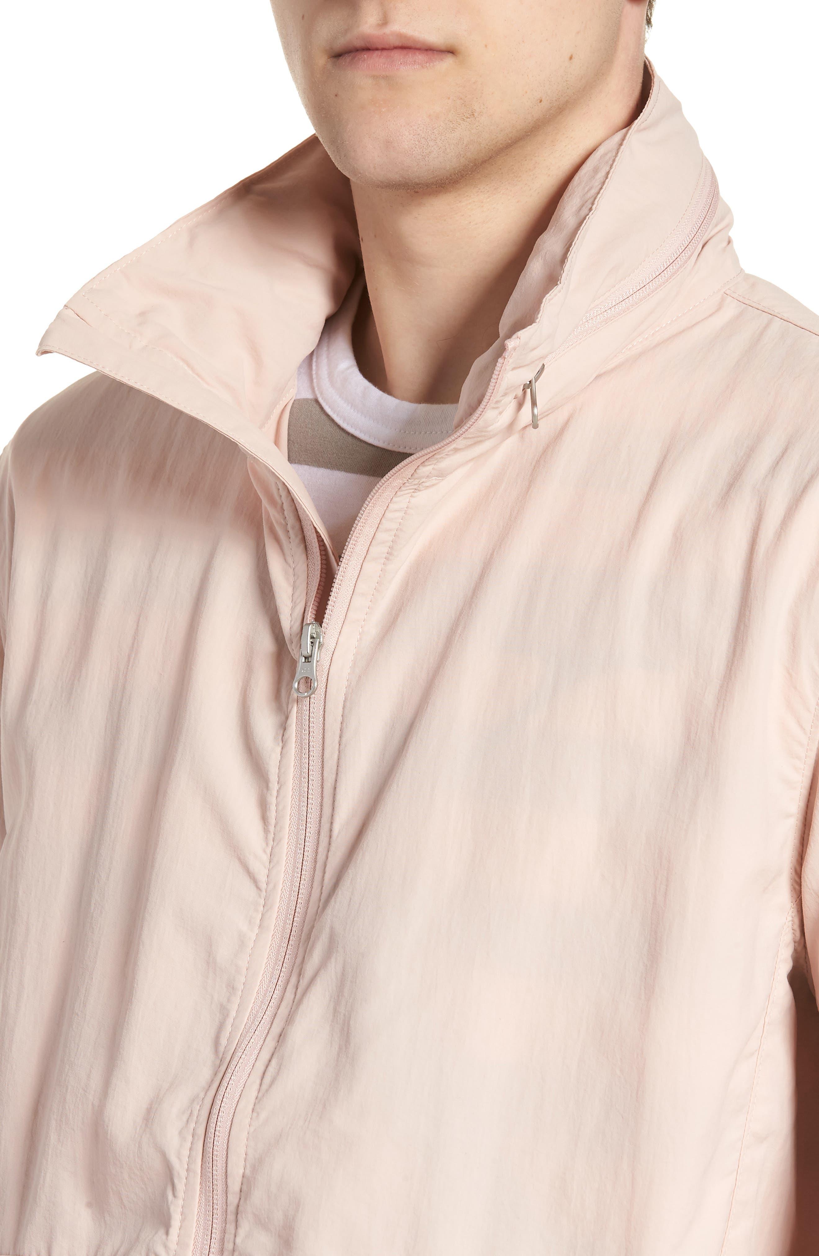 Wrinkled Stowaway Jacket,                             Alternate thumbnail 4, color,                             Ash Rose