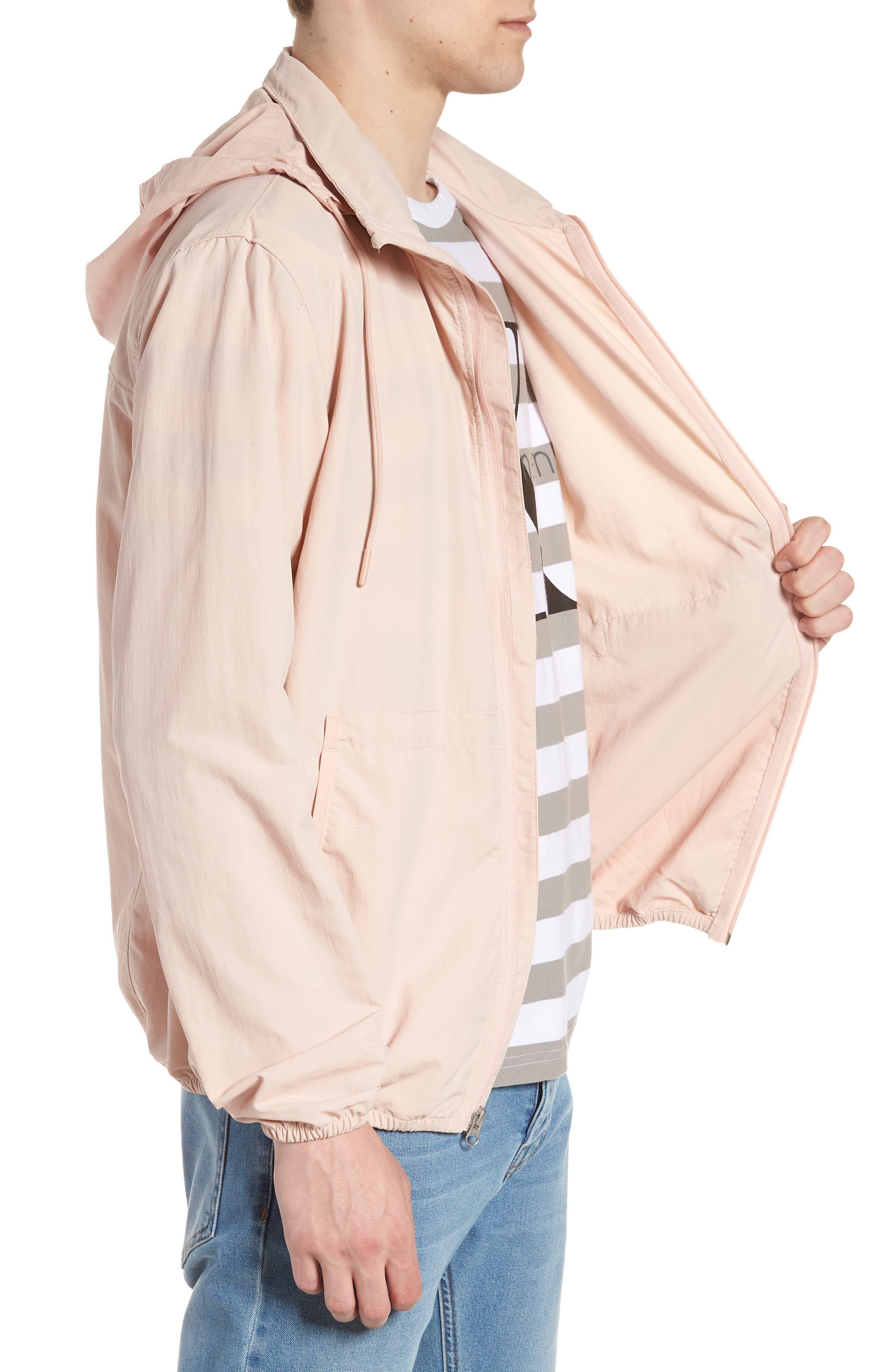 Wrinkled Stowaway Jacket,                             Alternate thumbnail 3, color,                             Ash Rose