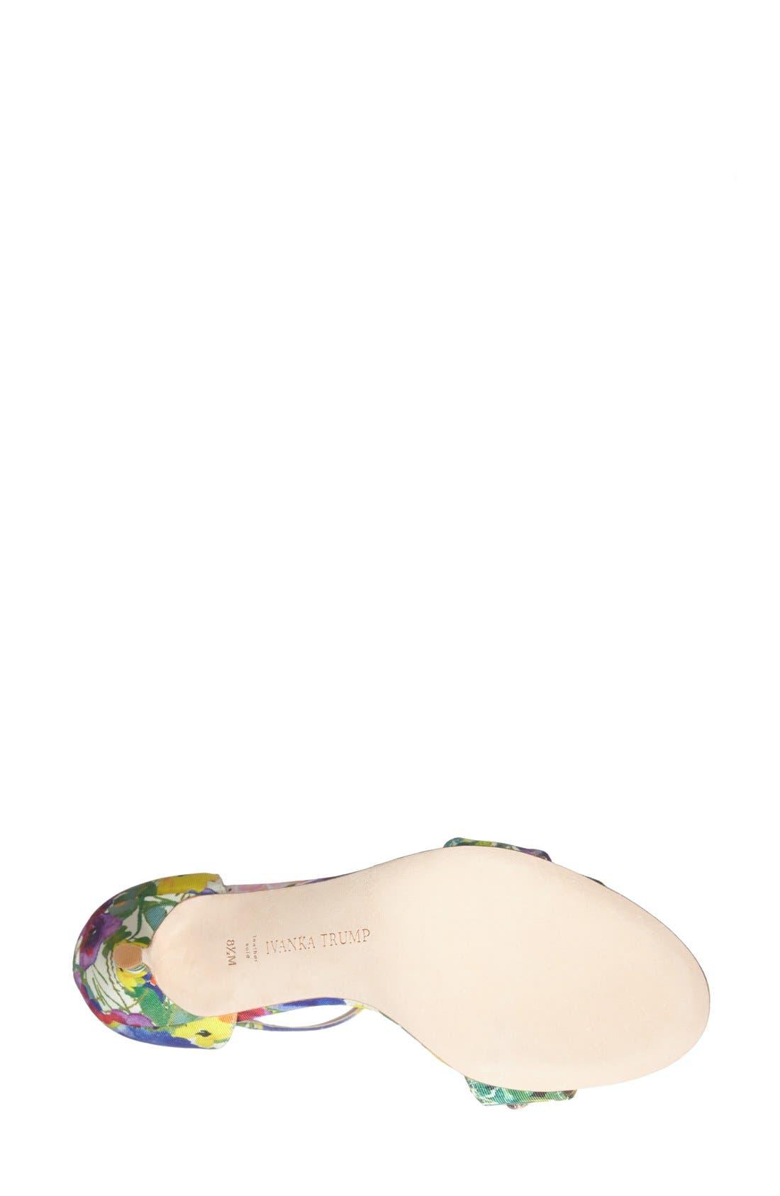 Alternate Image 4  - Ivanka Trump 'Gessa' Crystal Embellished Print Sandal (Women)