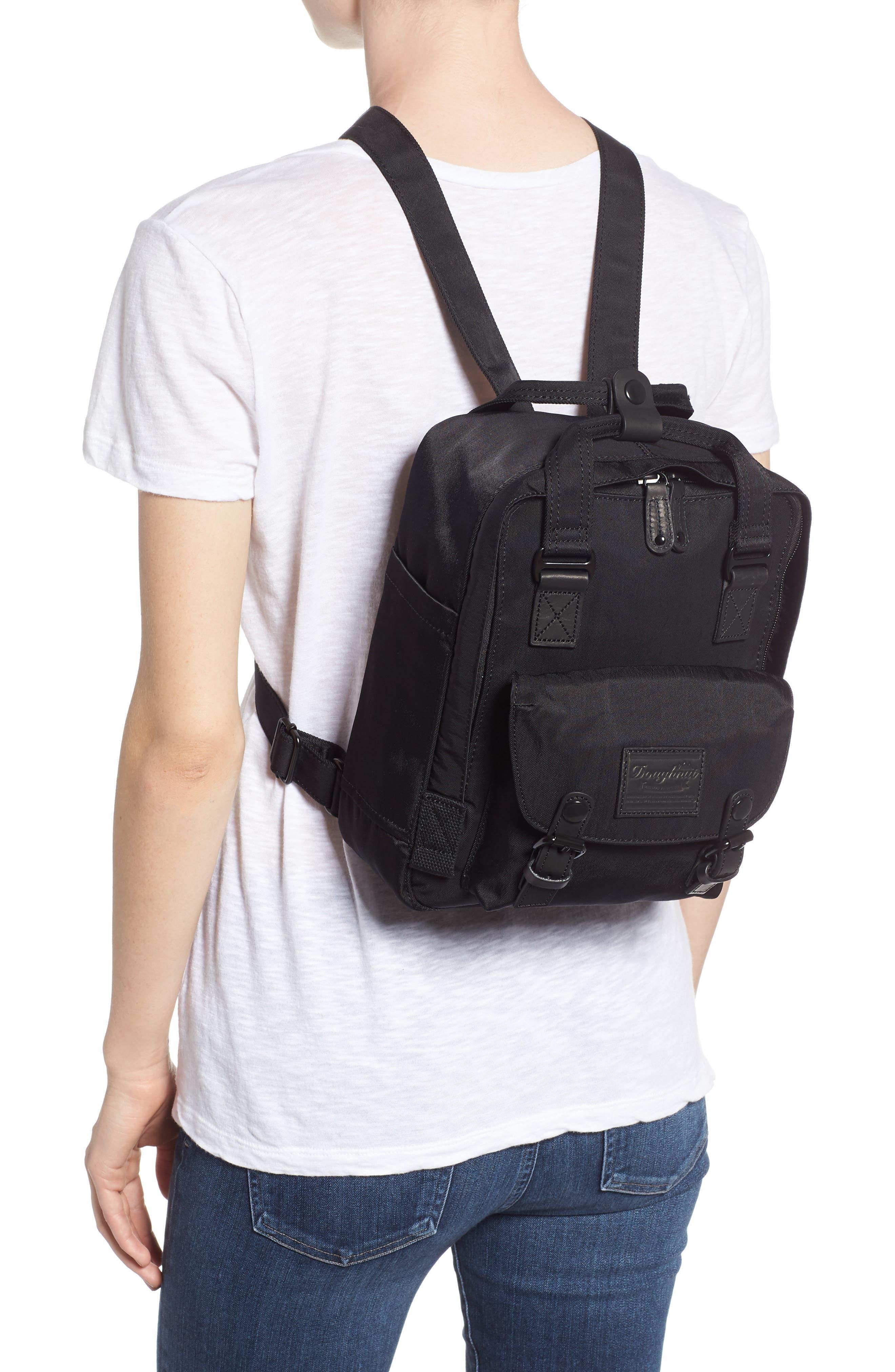 Mini Macaroon Black Series Water Resistant Backpack,                             Alternate thumbnail 2, color,                             Black