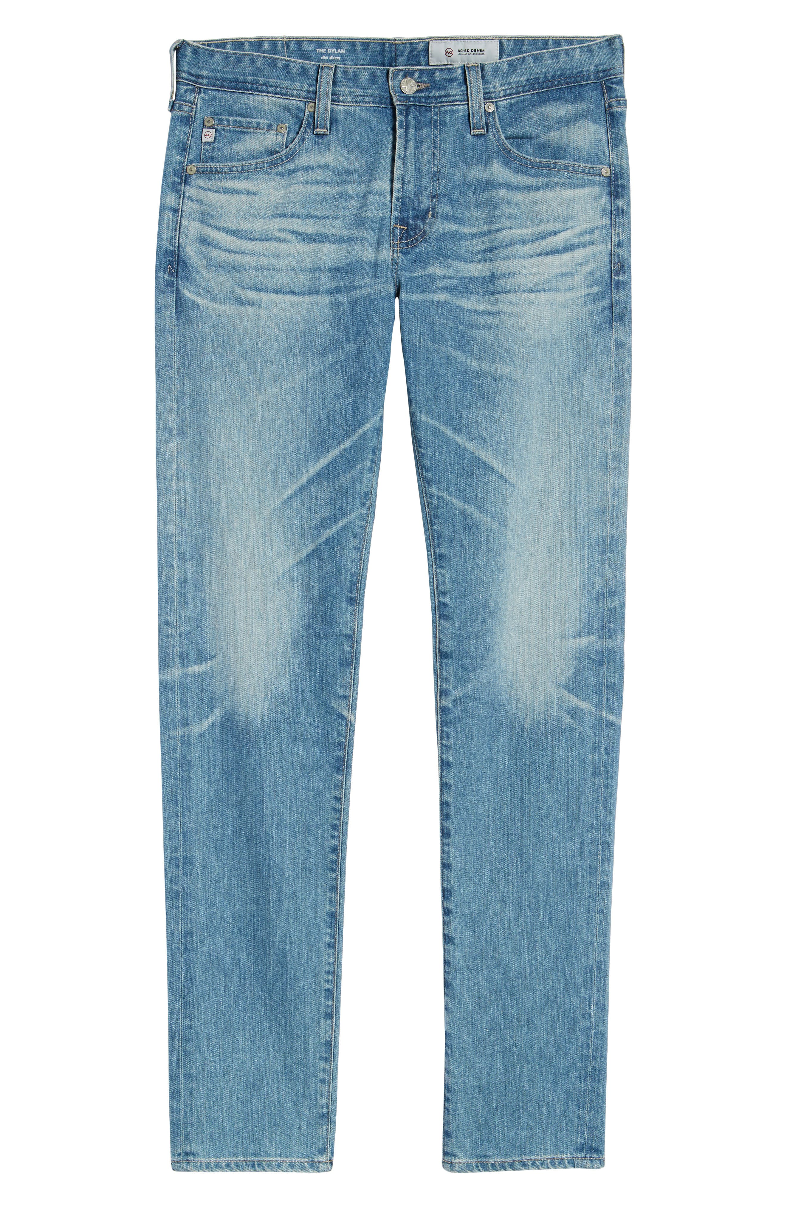 Dylan Skinny Fit Jeans,                             Alternate thumbnail 6, color,                             18 Years Oceano