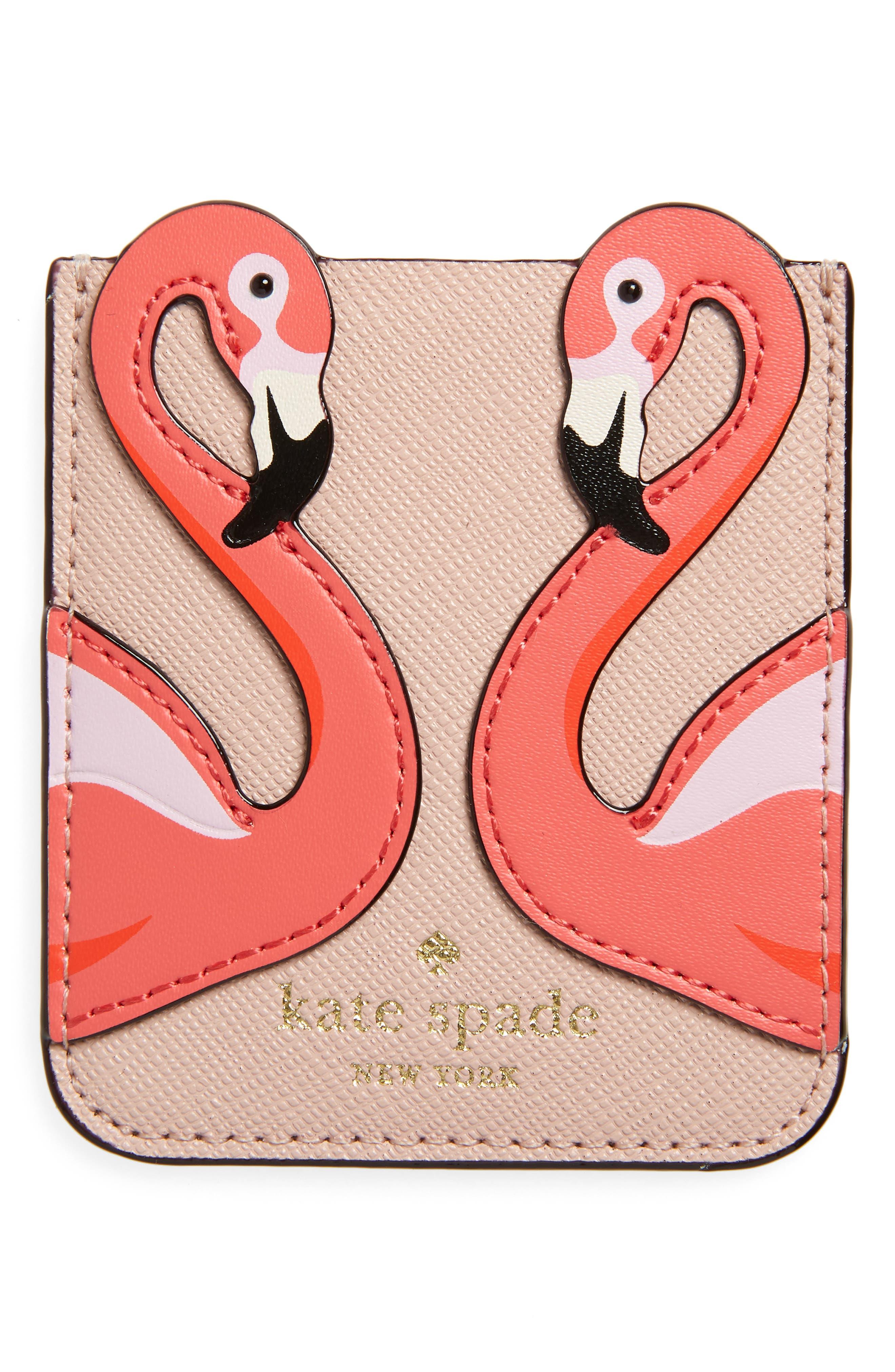 flamingo phone sticker pocket,                             Alternate thumbnail 2, color,                             Pink Multi