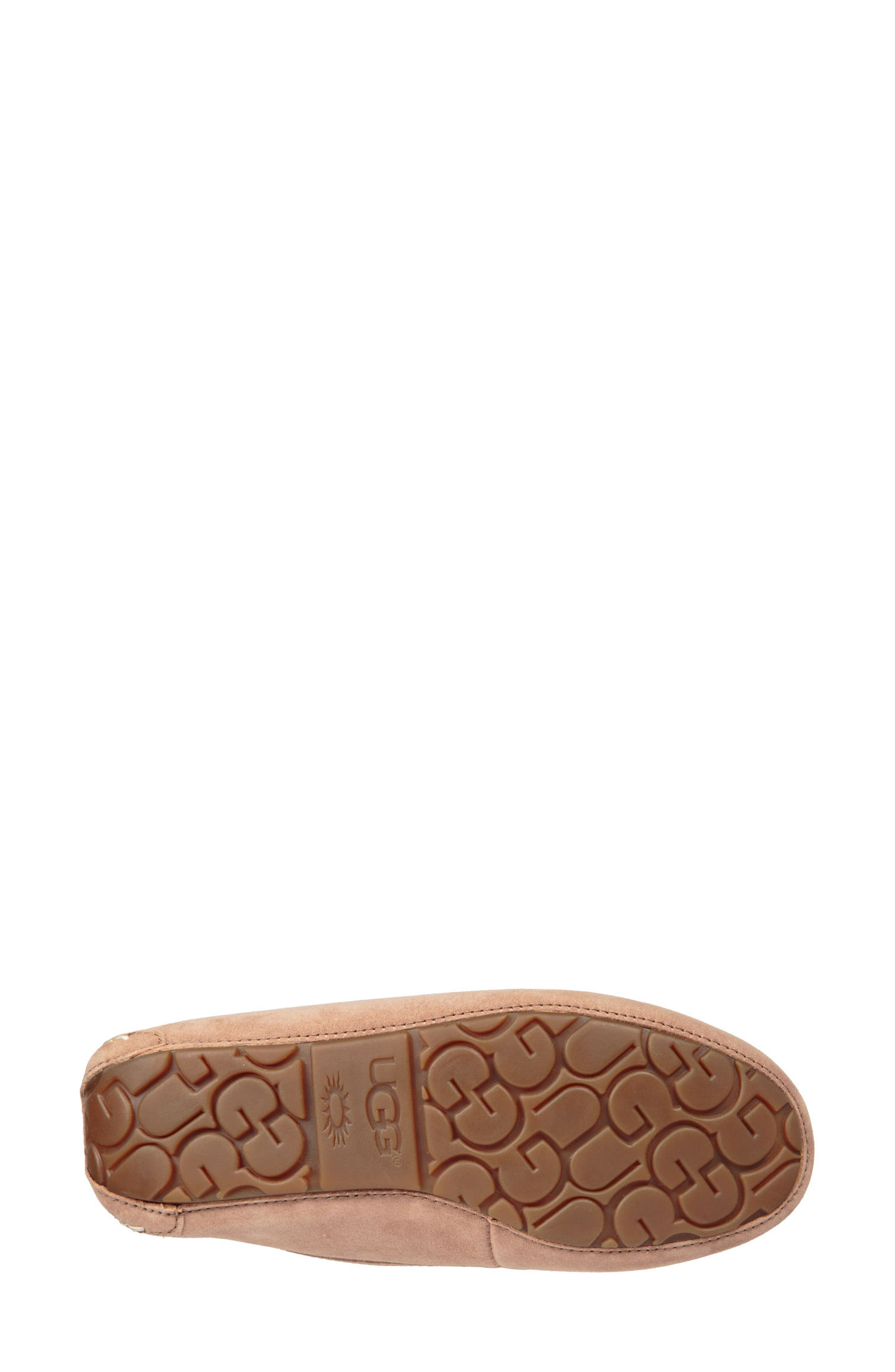 Ansley Water Resistant Slipper,                             Alternate thumbnail 5, color,                             Fawn Leather