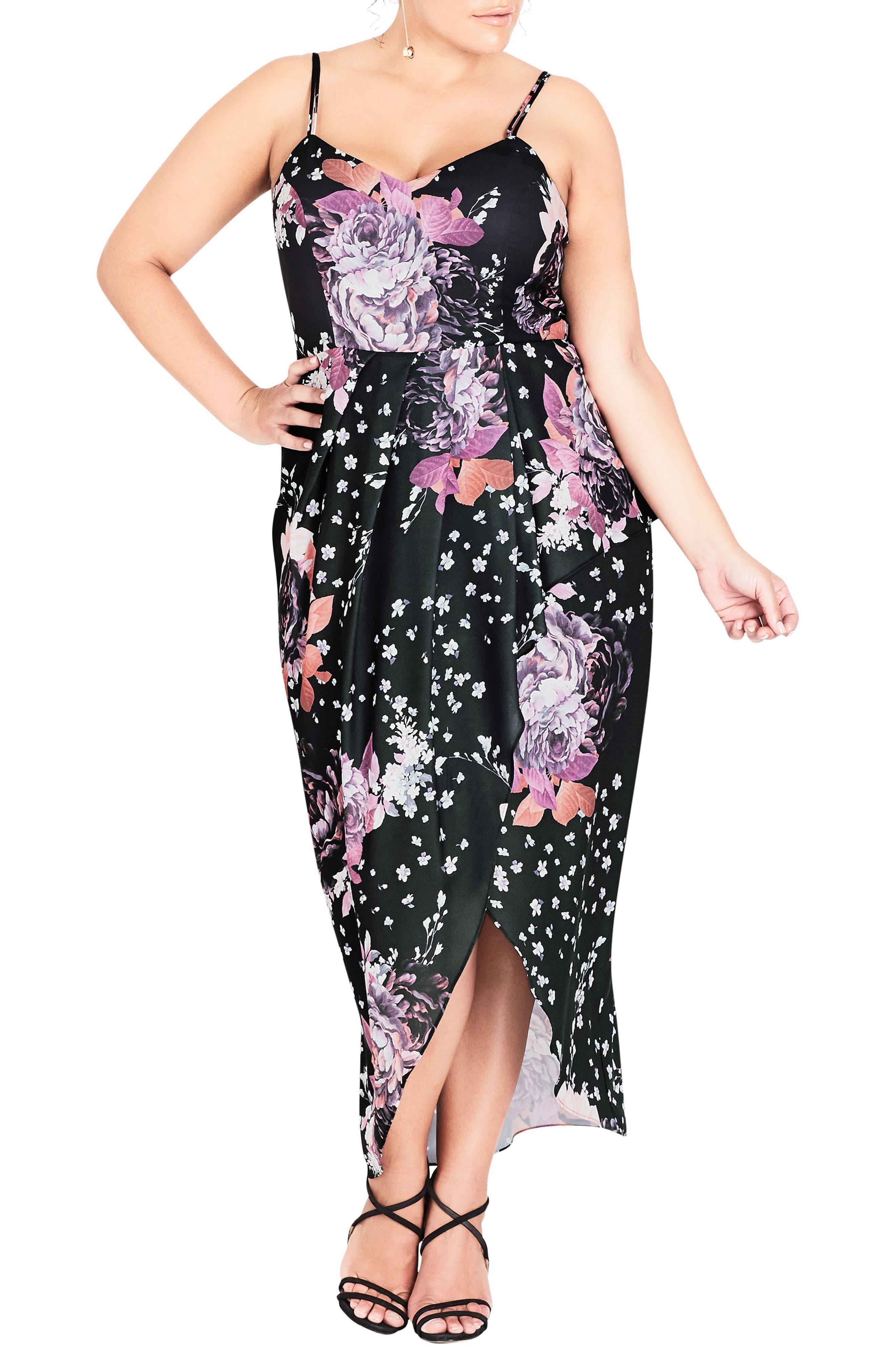 CITY CHIC BLUSH ROSE MAXI DRESS
