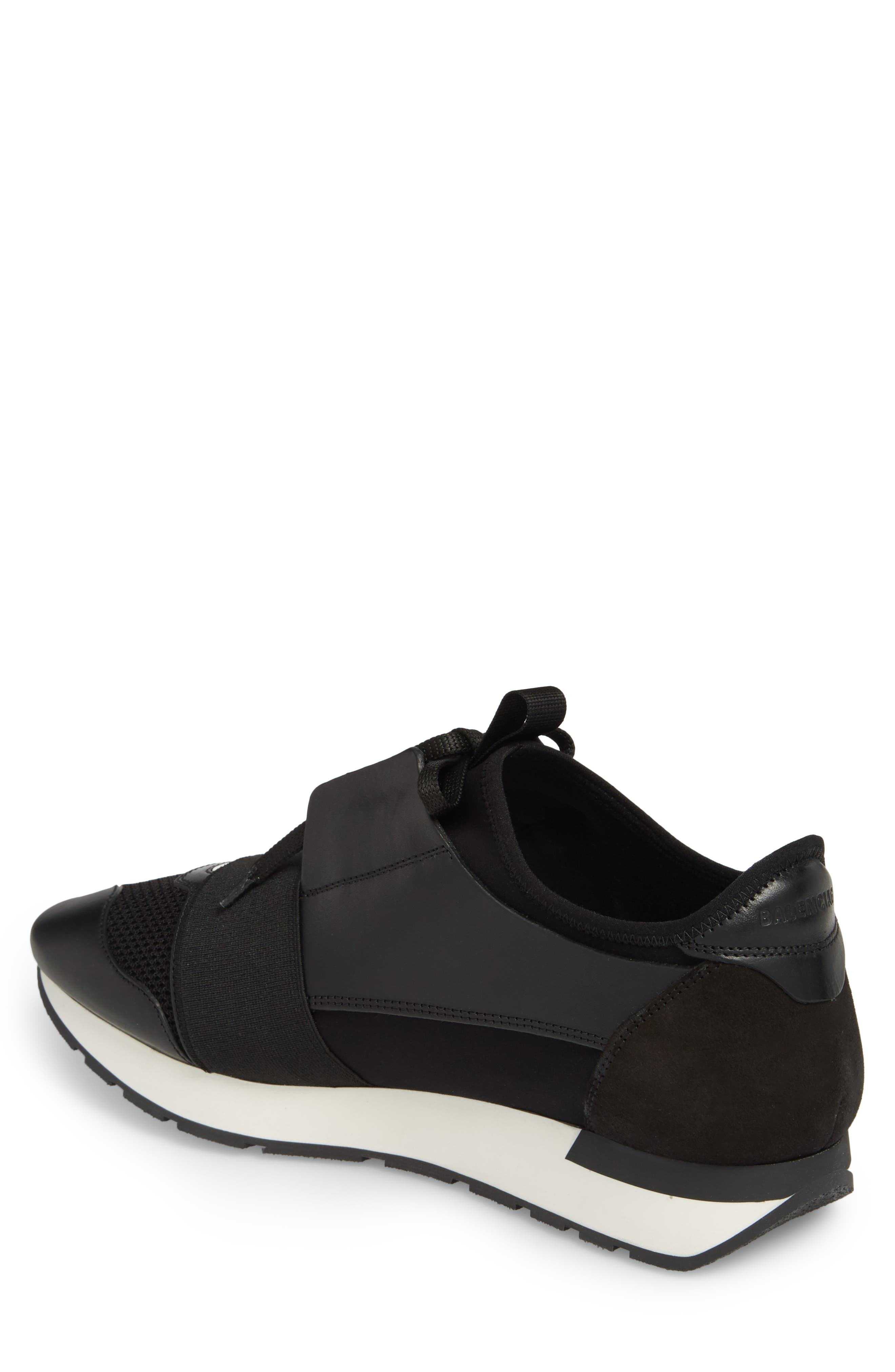 Race Runner Sneaker,                             Alternate thumbnail 2, color,                             Noir/ Black