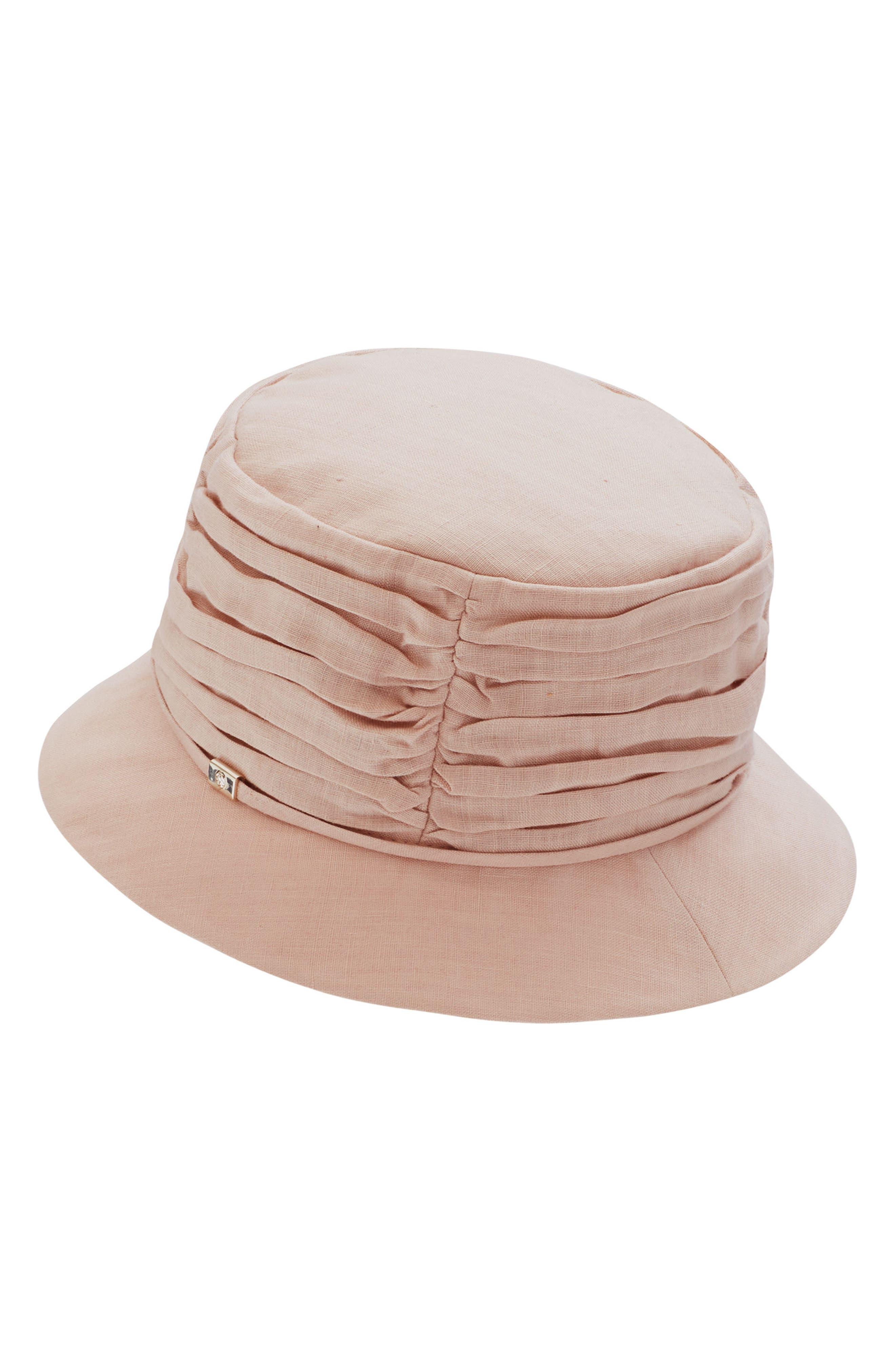 CLASSIC LINEN BUCKET HAT - PINK