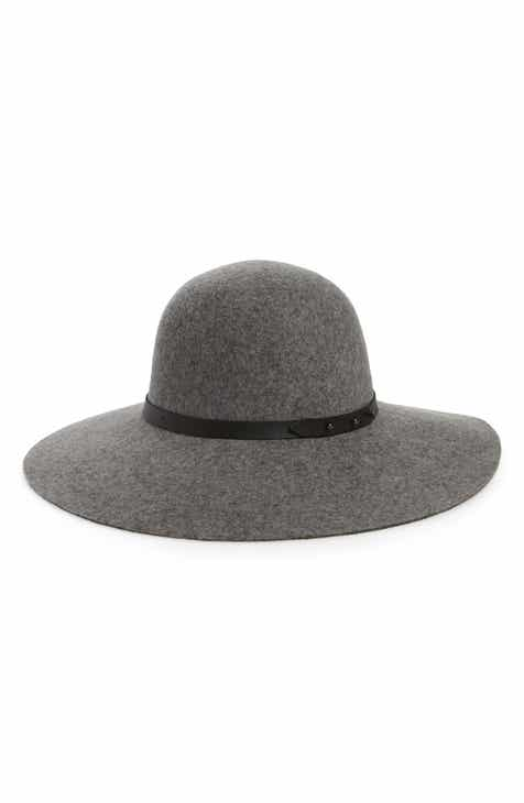 b23700a9105 Halogen® Refined Wide Brim Wool Floppy Hat