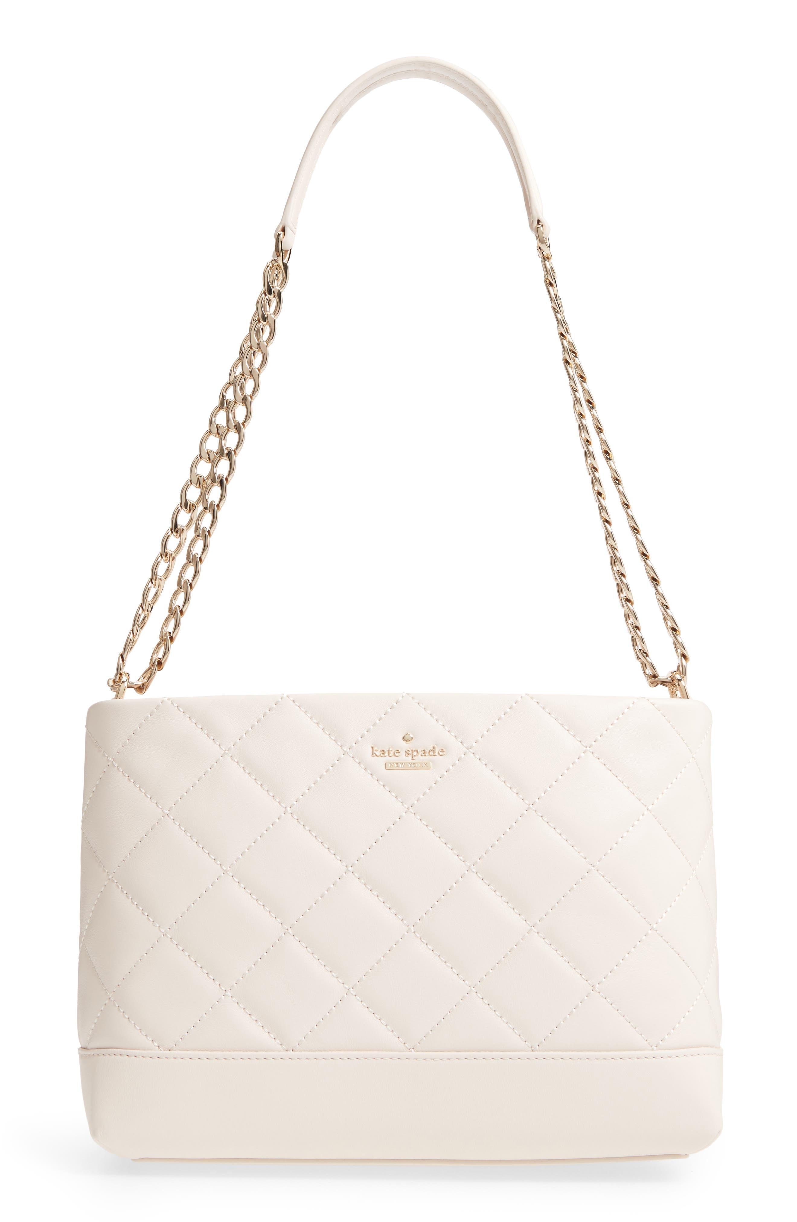 emerson place lorie quilted leather shoulder bag,                         Main,                         color, Bleach Bone