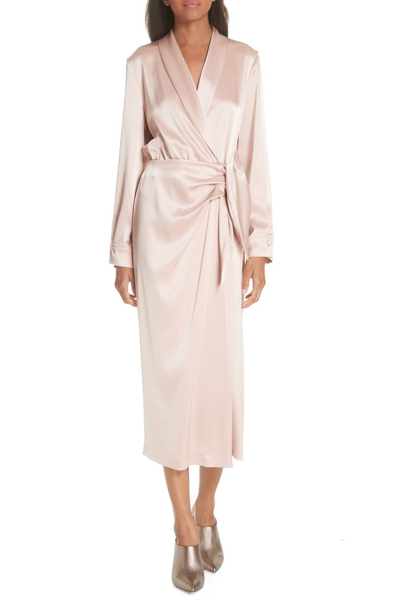Ezra Satin Wrap Dress