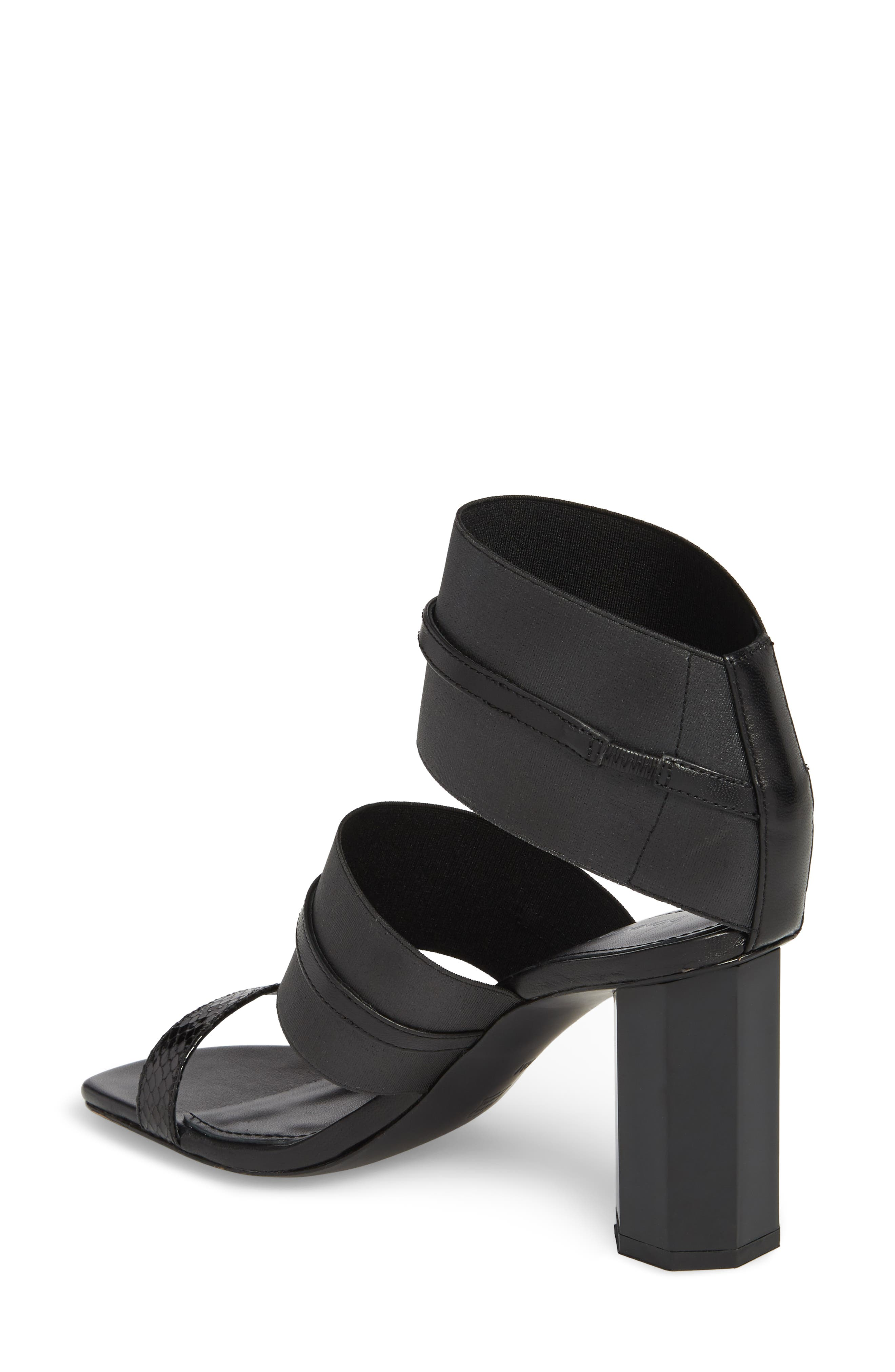 Edie Sandal,                             Alternate thumbnail 2, color,                             Black Leather