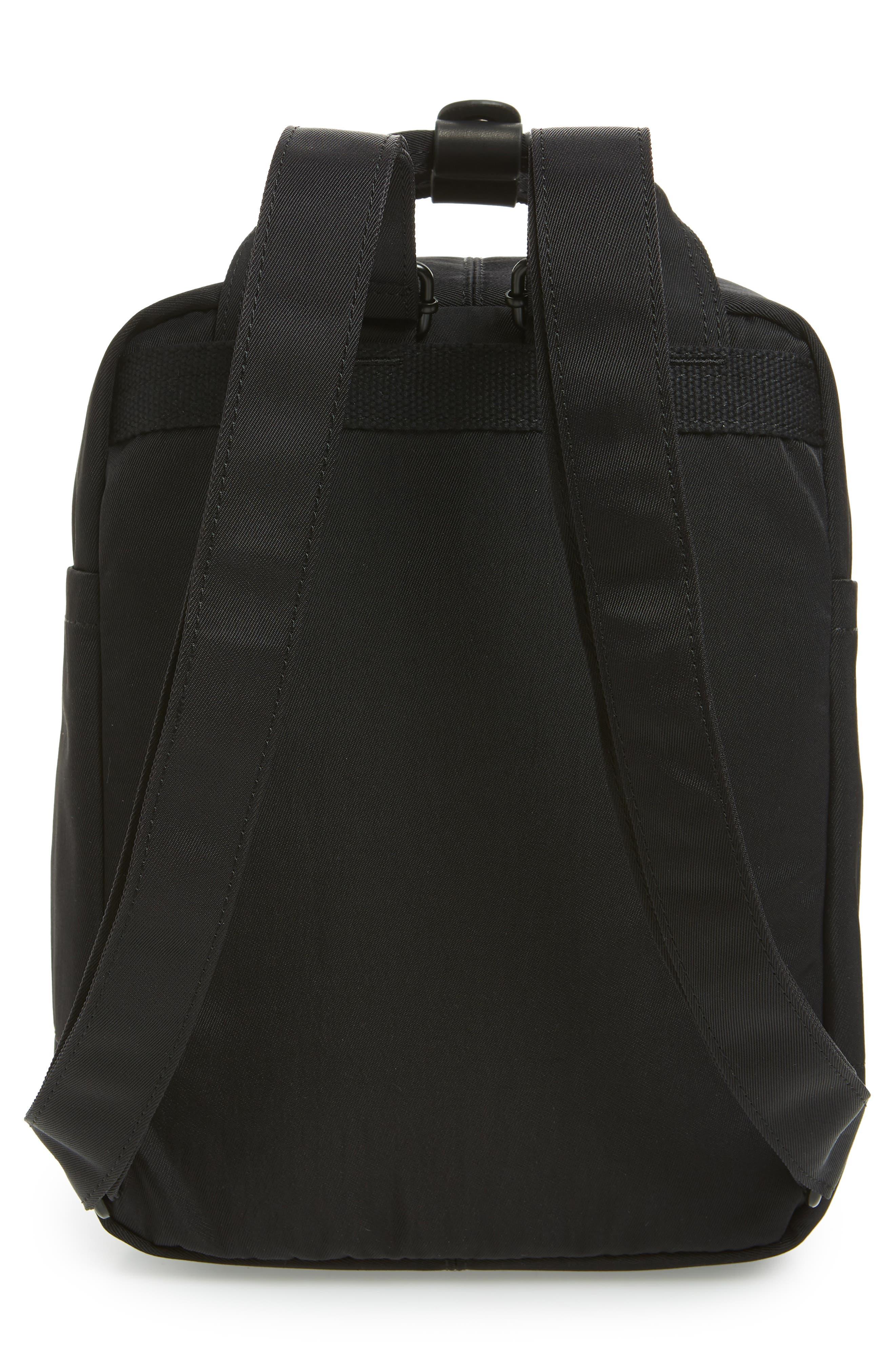 Mini Macaroon Black Series Water Resistant Backpack,                             Alternate thumbnail 5, color,                             Black