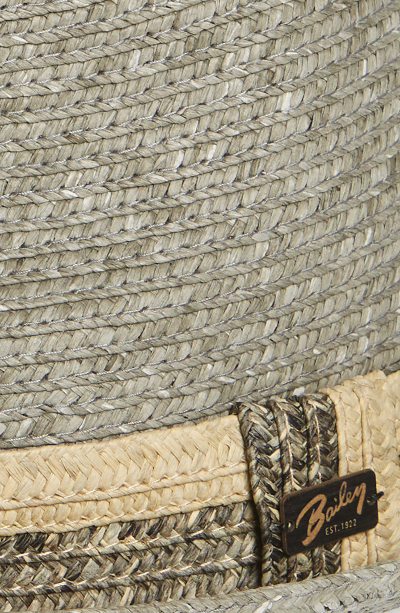 Pelly Straw Trilby,                             Alternate thumbnail 2, color,                             Grey