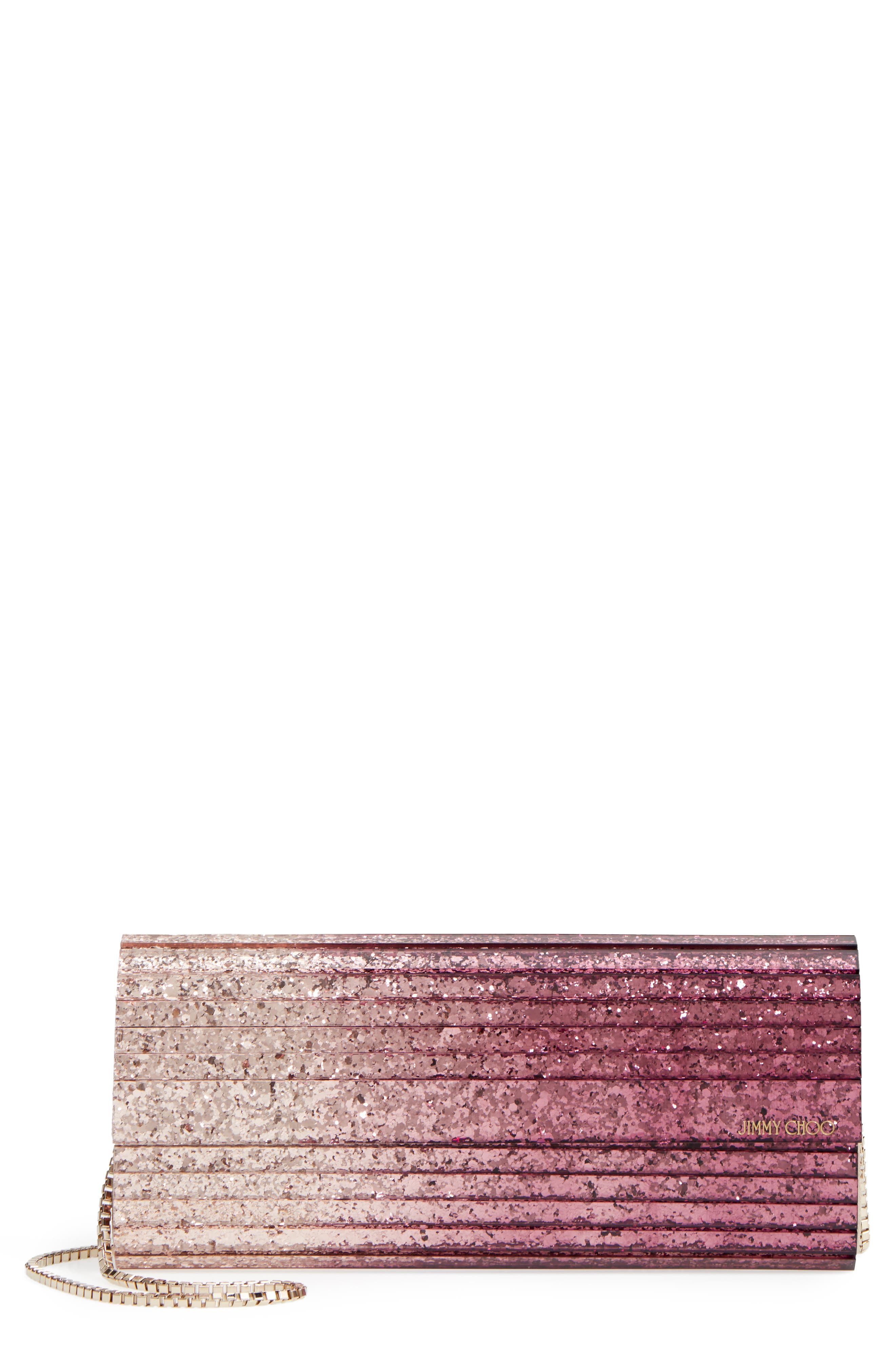 'Sweetie' Clutch,                             Main thumbnail 1, color,                             Champagne/ Grape