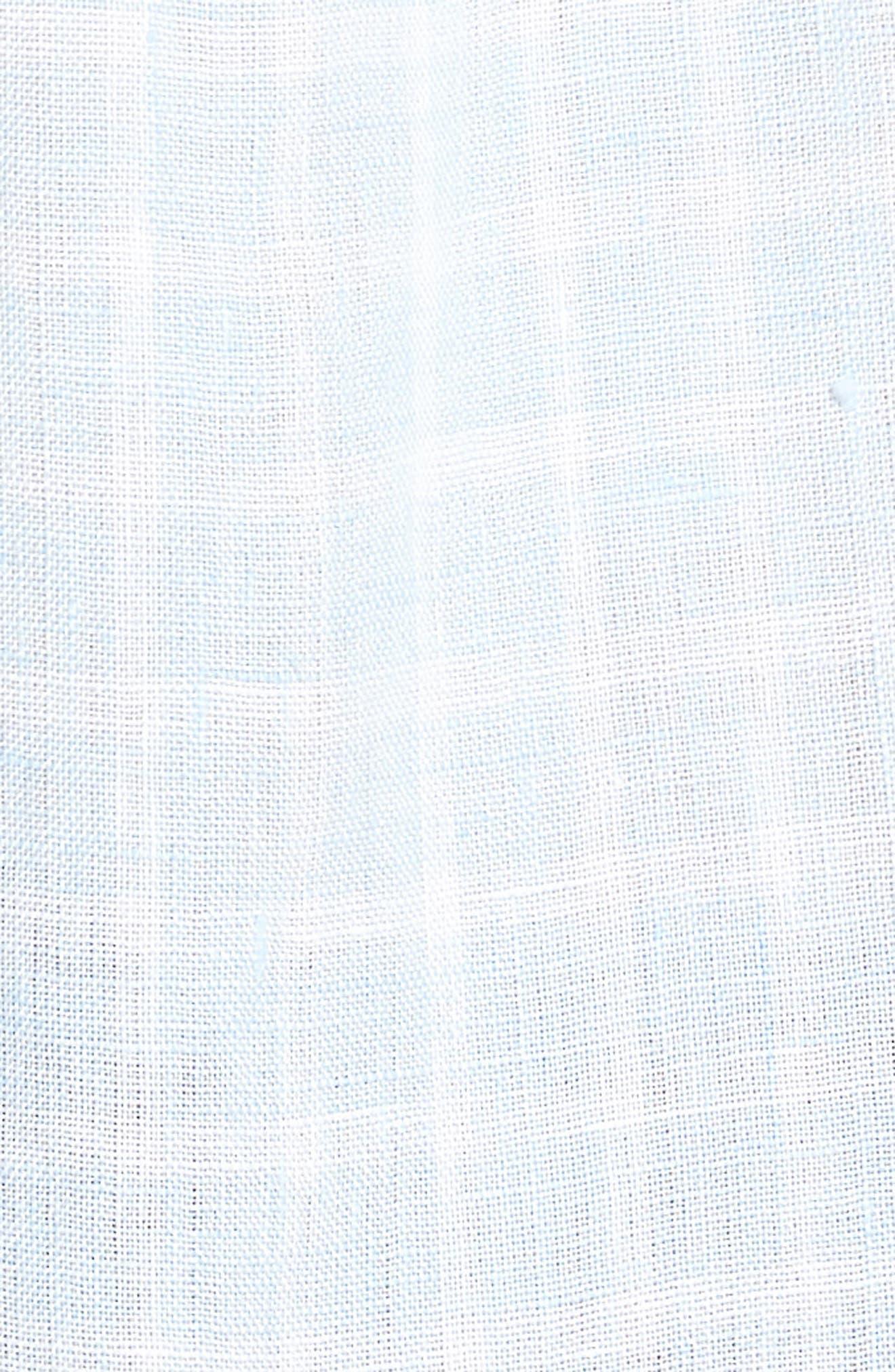 Avonside Check Linen Sport Shirt,                             Alternate thumbnail 3, color,                             Stonewash