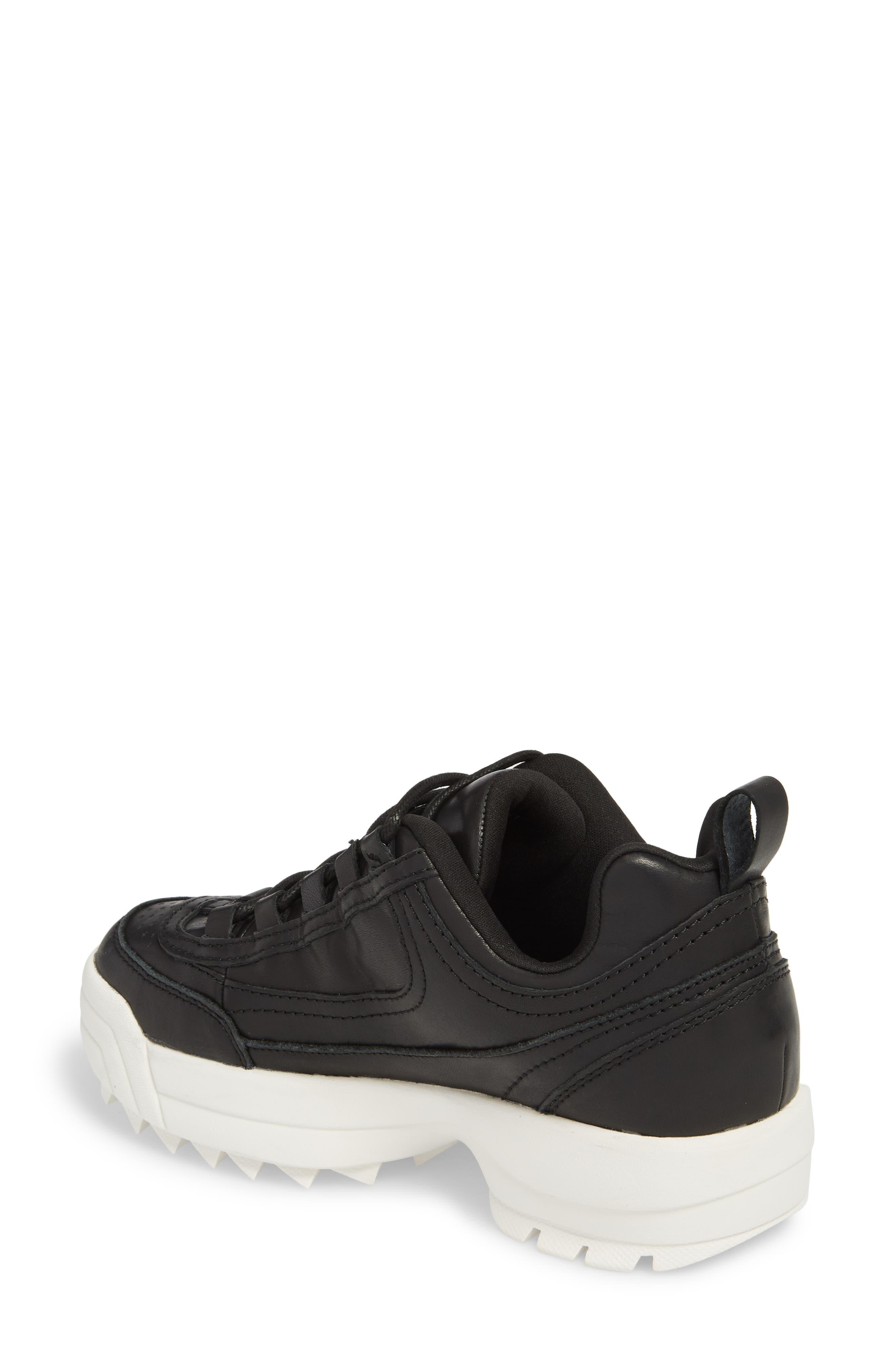 Sidekick Platform Sneaker,                             Alternate thumbnail 2, color,                             Black Leather
