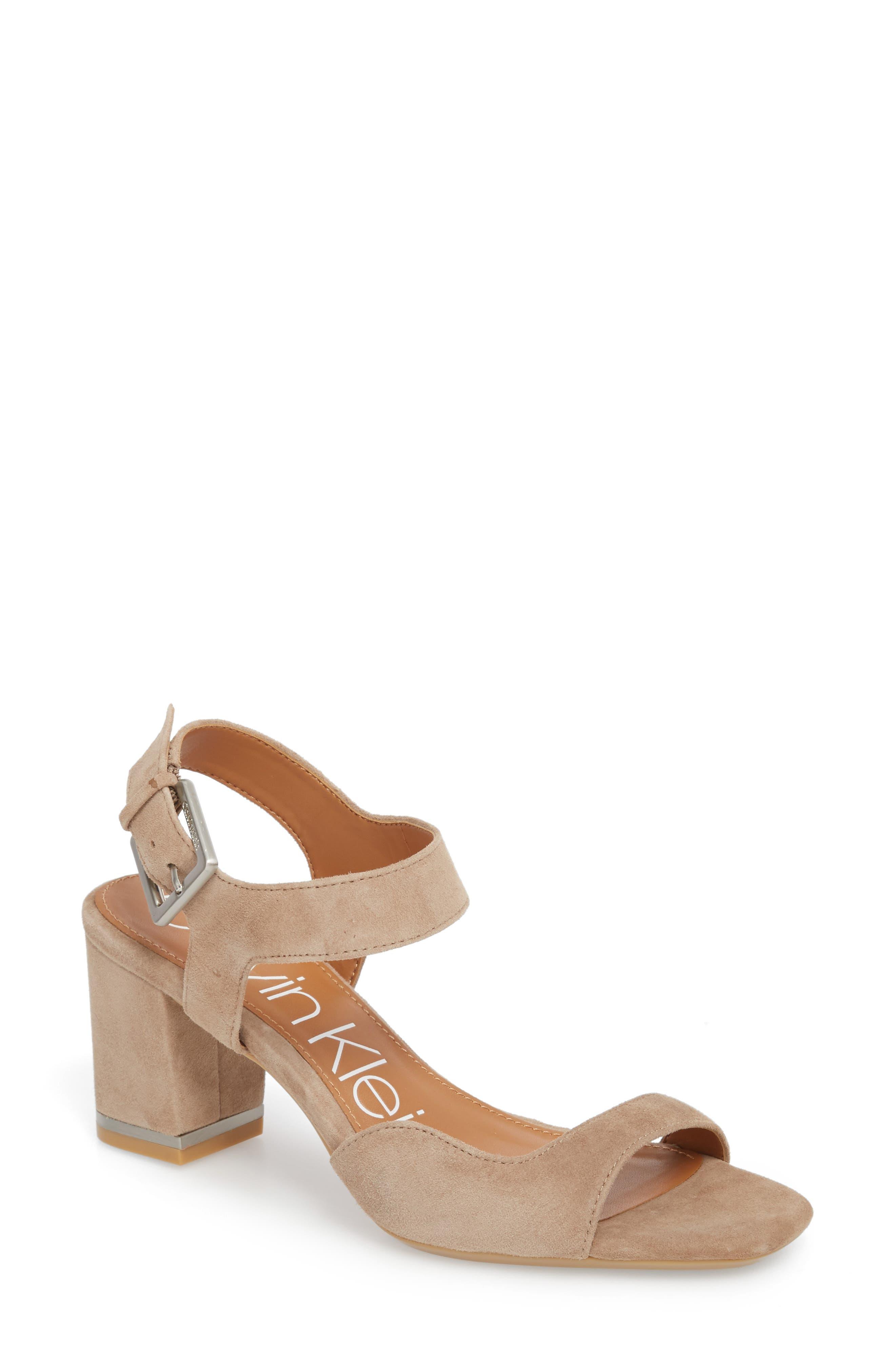 Calvin Klein Women's Chantay Asymmetrical Sandal