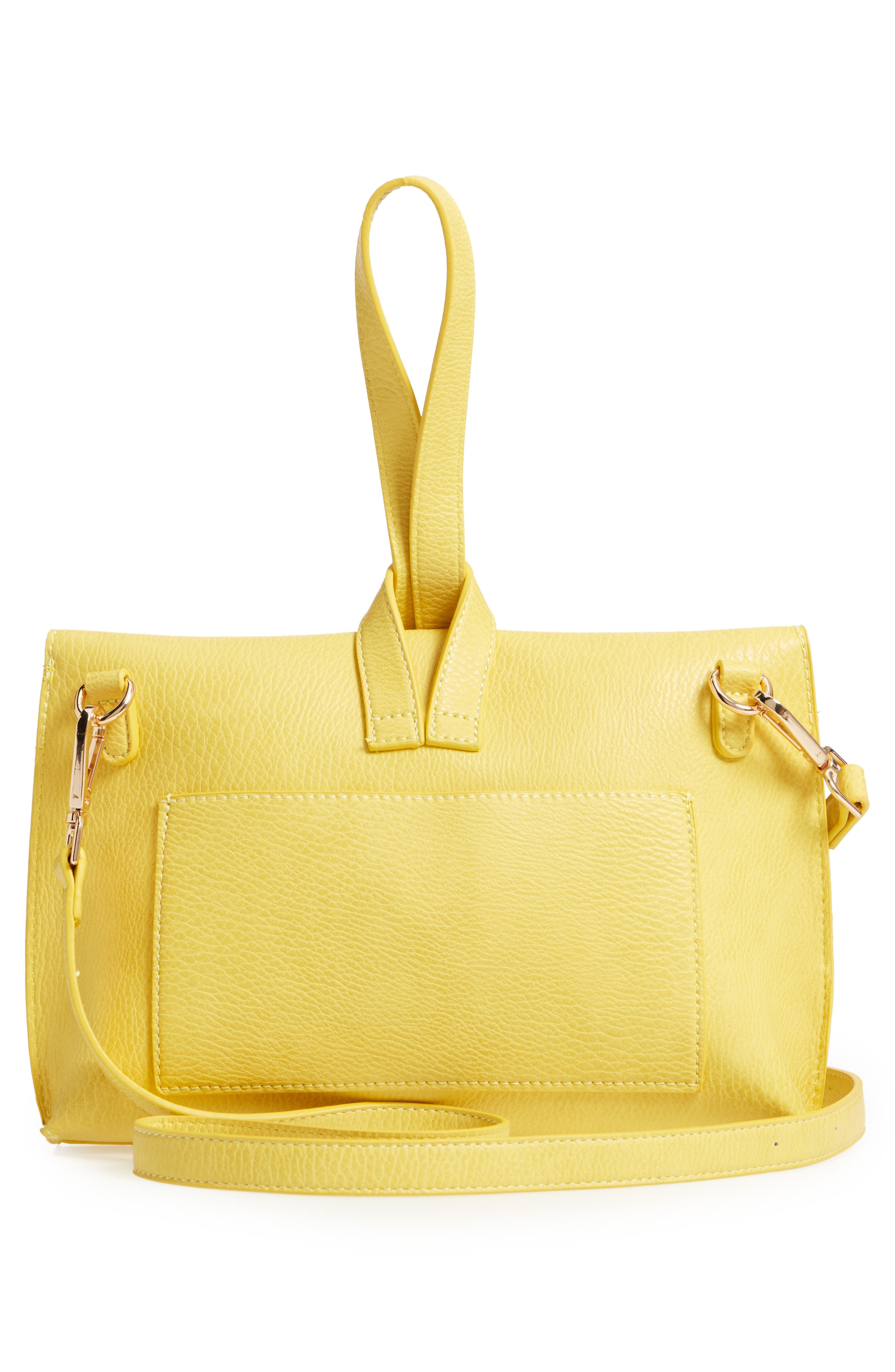 Pull Through Wristlet/Crossbody Bag,                             Alternate thumbnail 3, color,                             Yellow