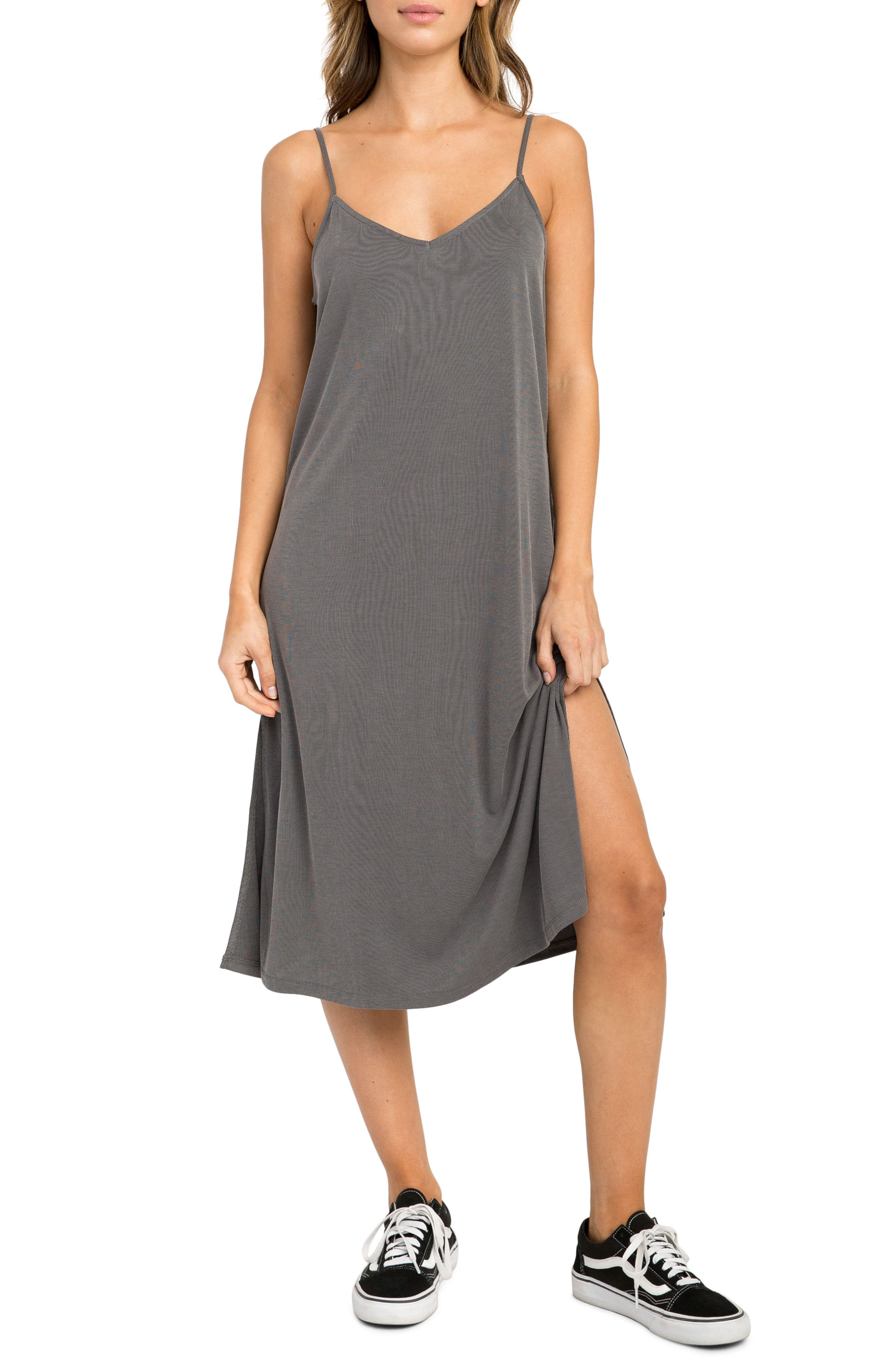 Jones Midi Dress,                             Main thumbnail 1, color,                             Grey