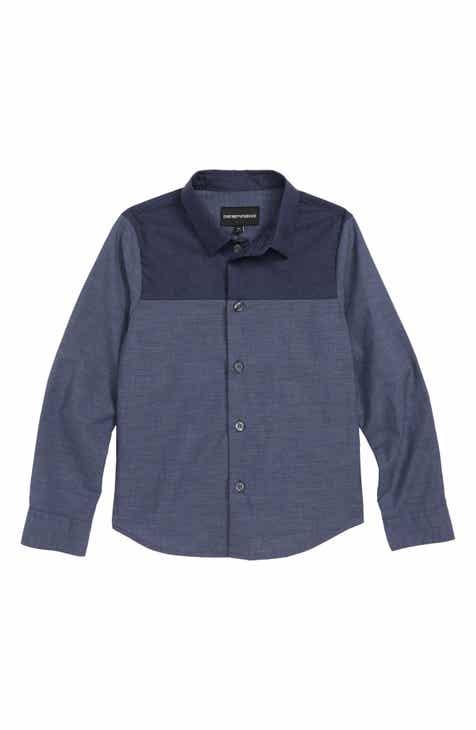 a0b2a5859f92 Armani Junior Denim Shirt (Little Boys   Big Boys)