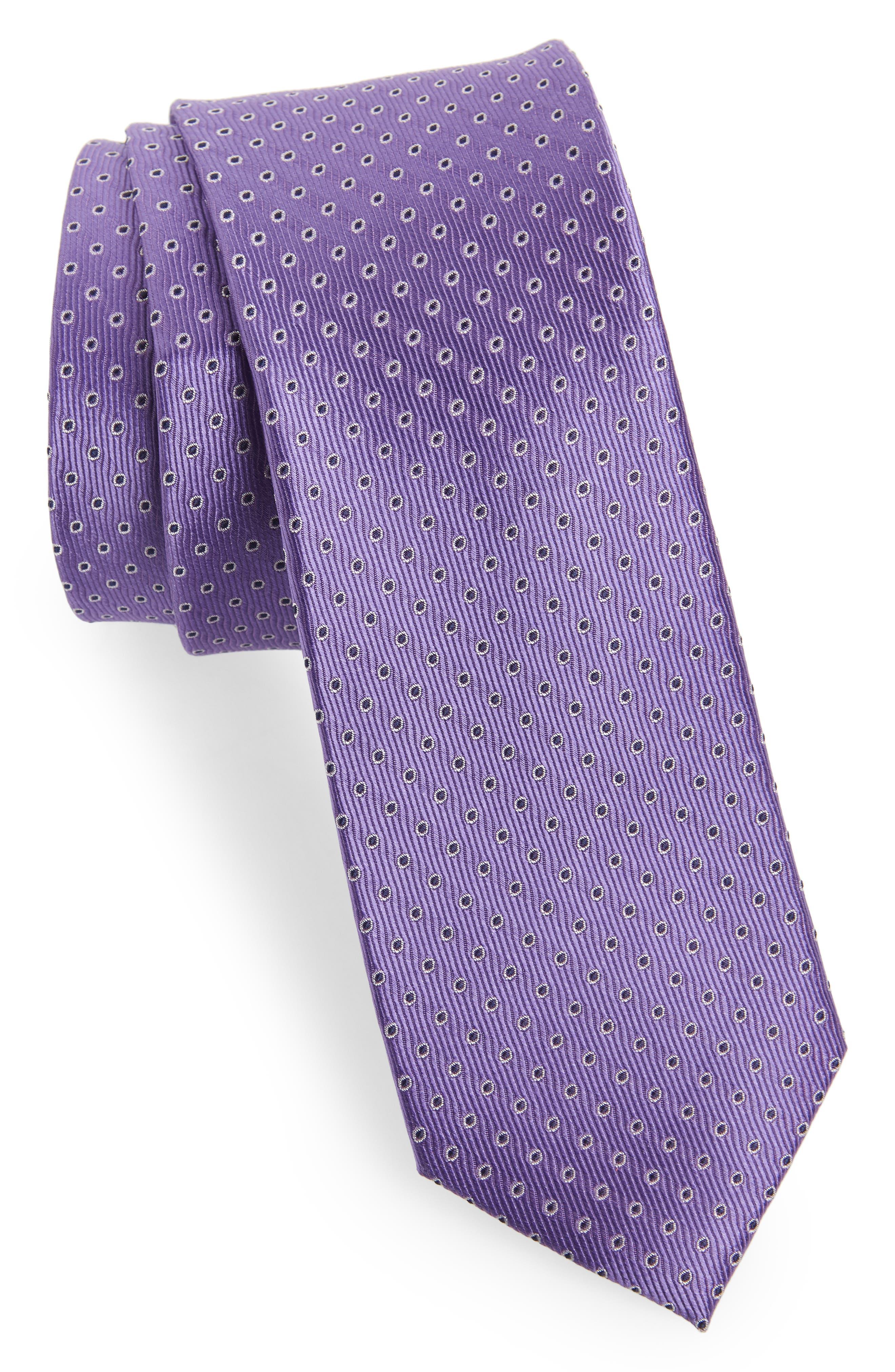 Newport Dot Silk Tie,                             Main thumbnail 1, color,                             Lilac